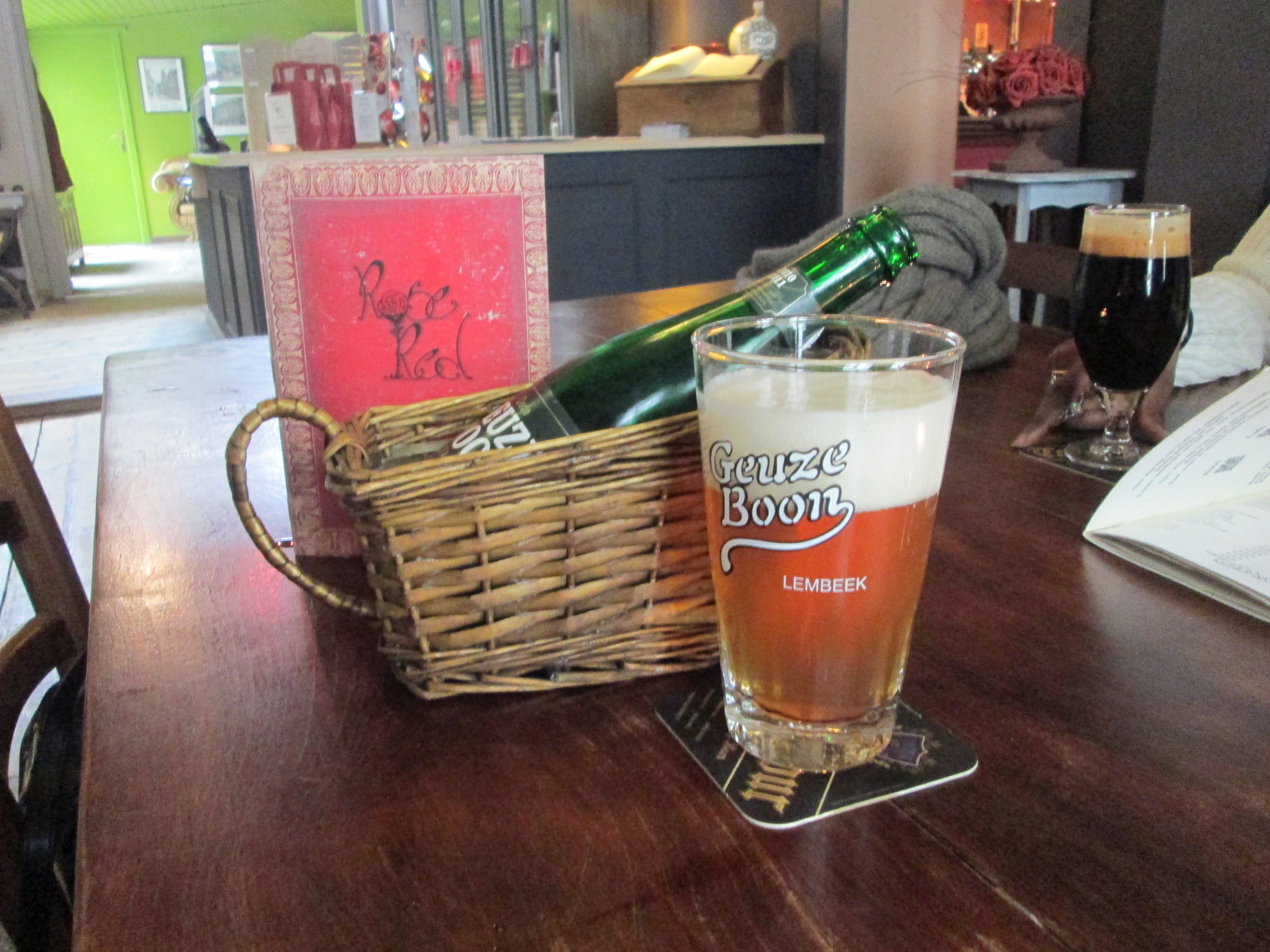 Gueuze beer, which is only produced in Belgium, due to the special fermentation process.