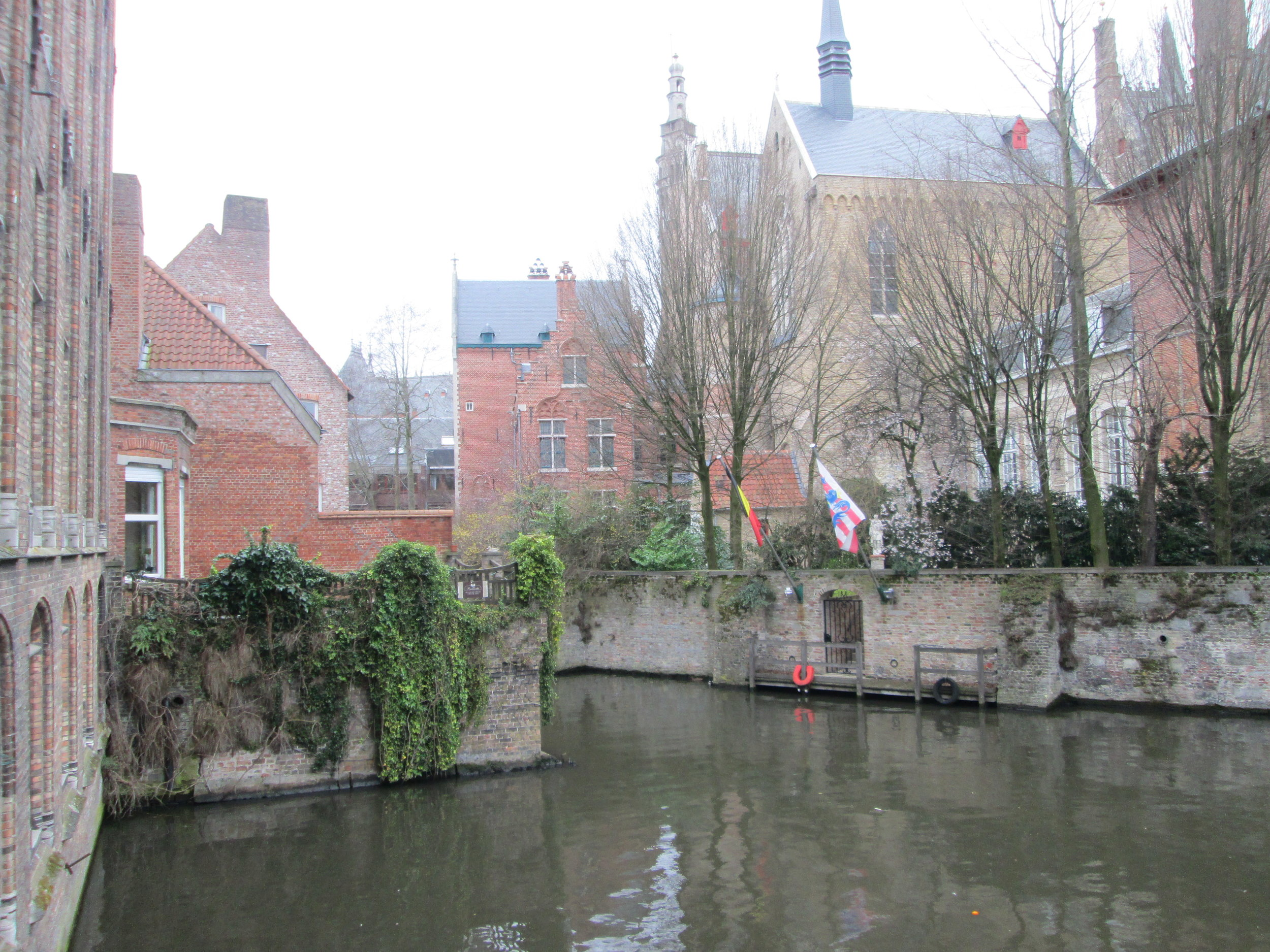 Pretty shot of a canal in Bruges.