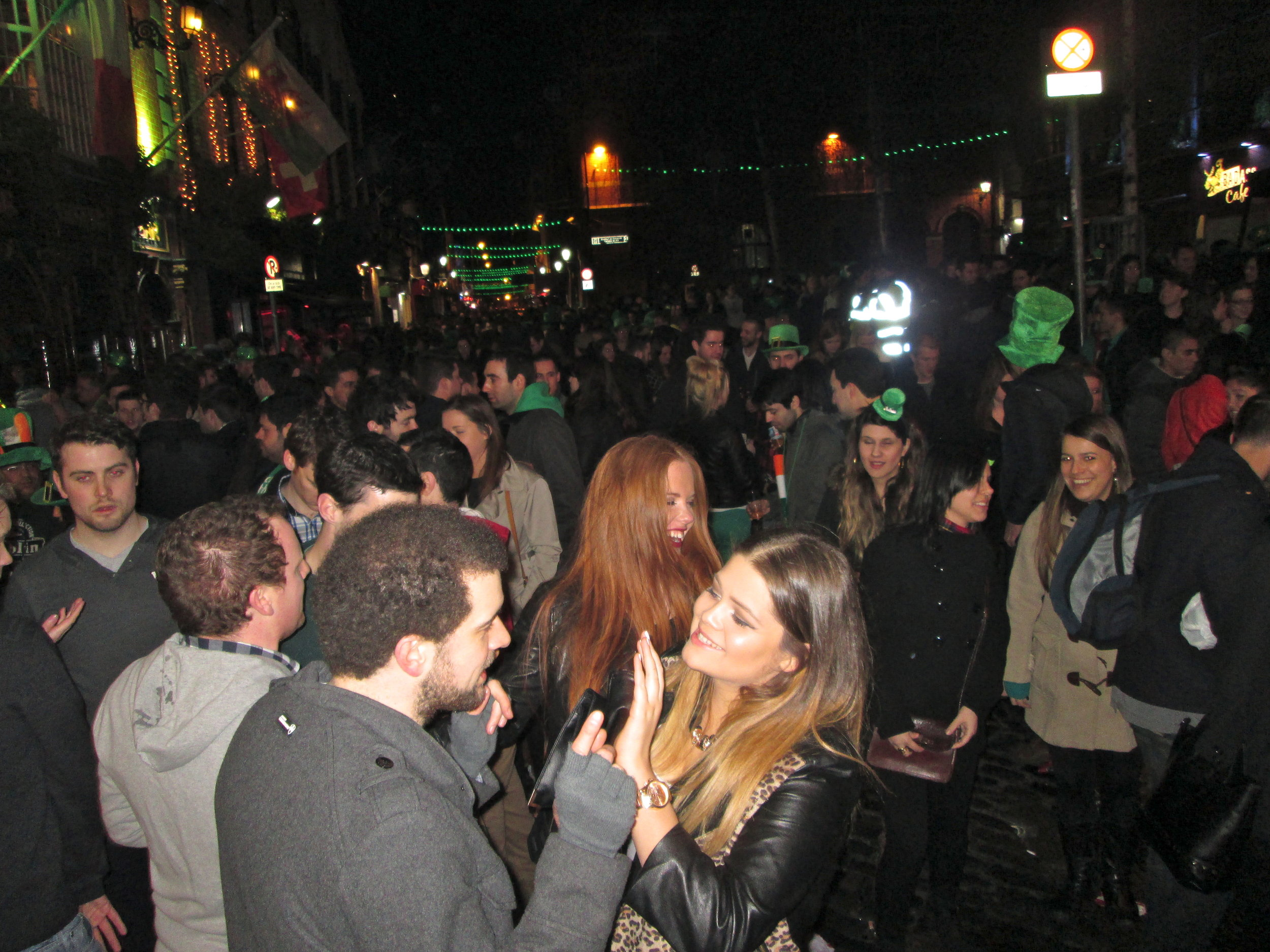 Temple Bar on St. Patrick's Day