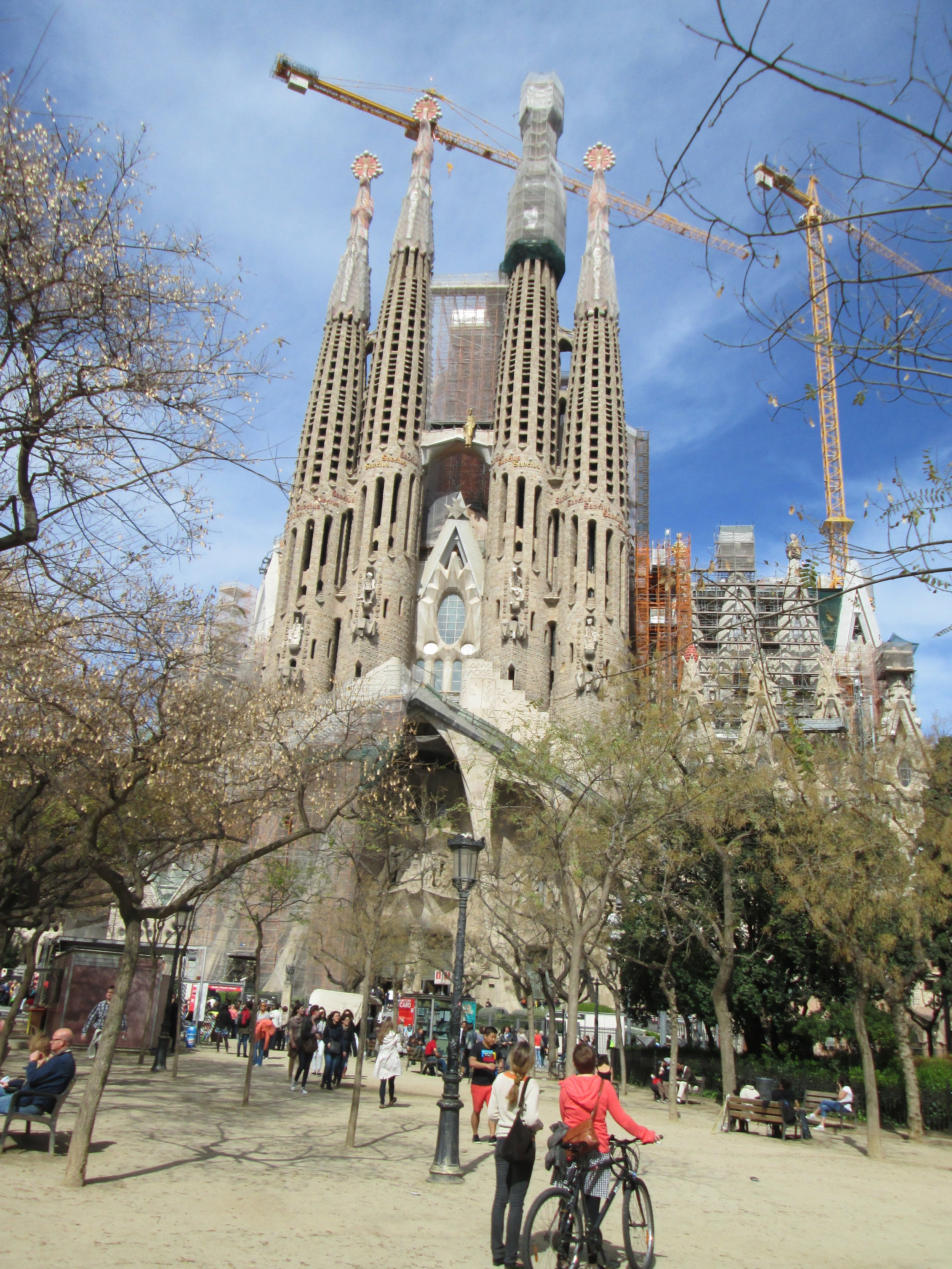 La Sagrada Familia, completely funded by the people, designed by Gaudi.