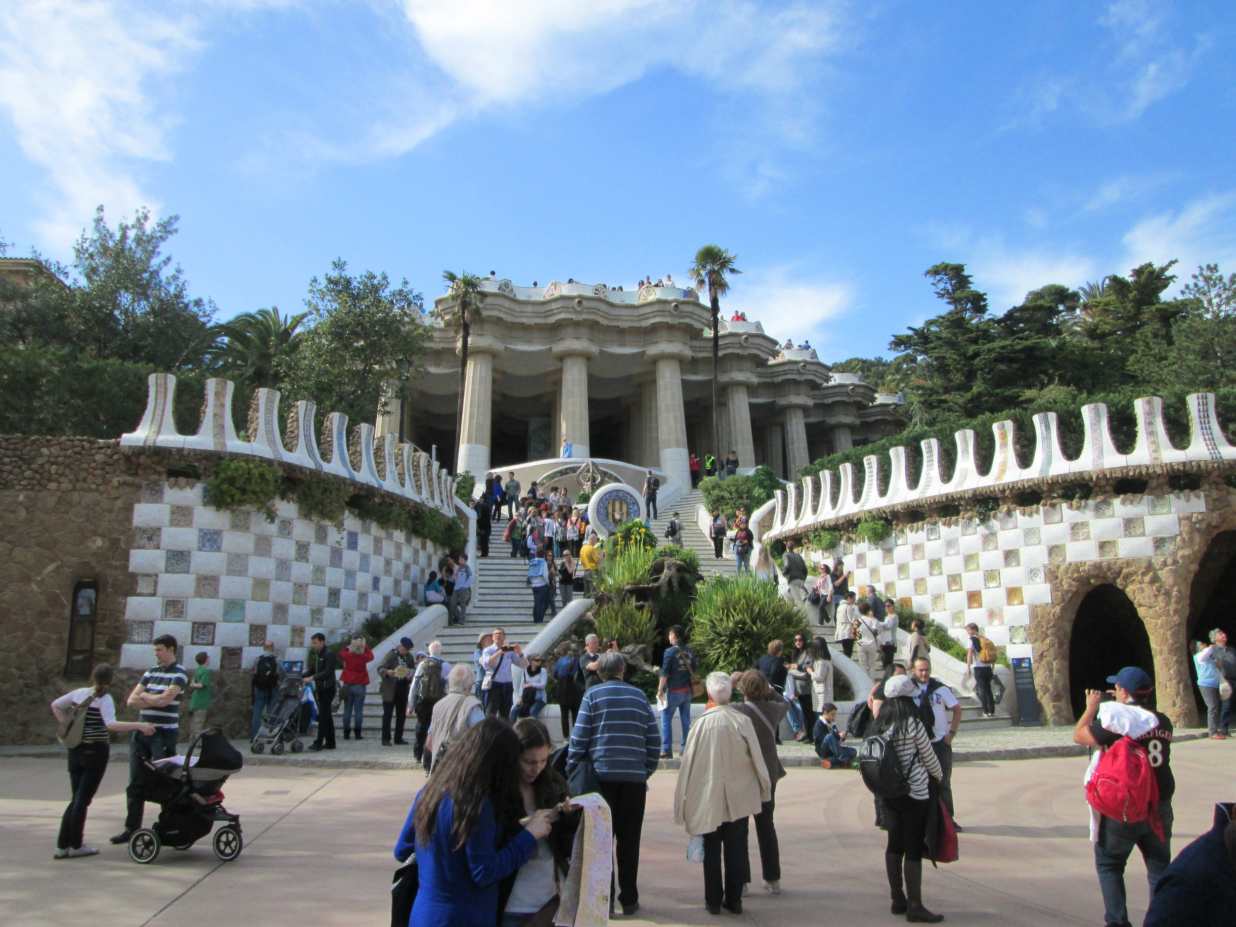 Parc Guell, architecture also courtesy of Gaudi.