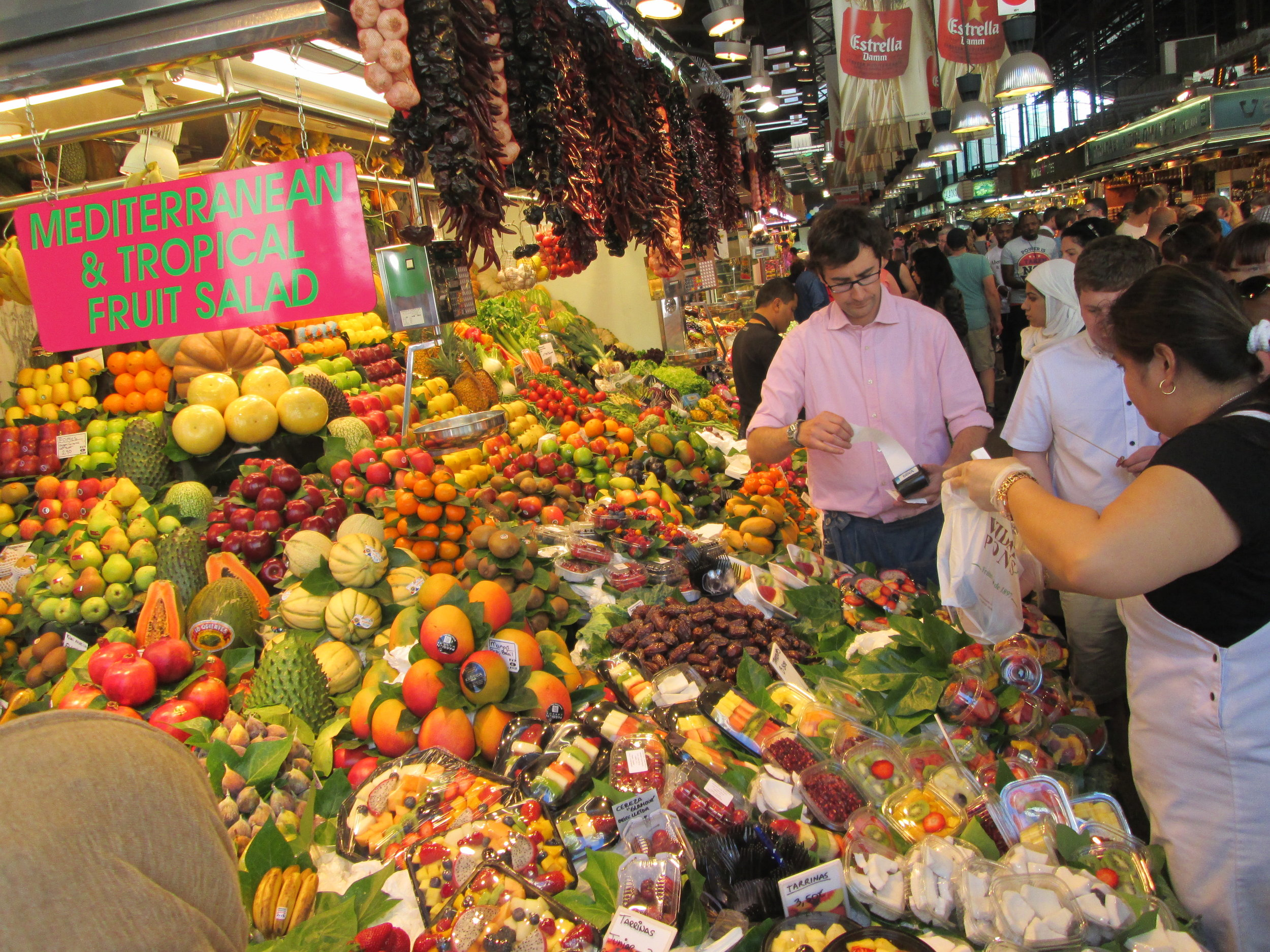 A fruit stand at the Boqueria (!!)