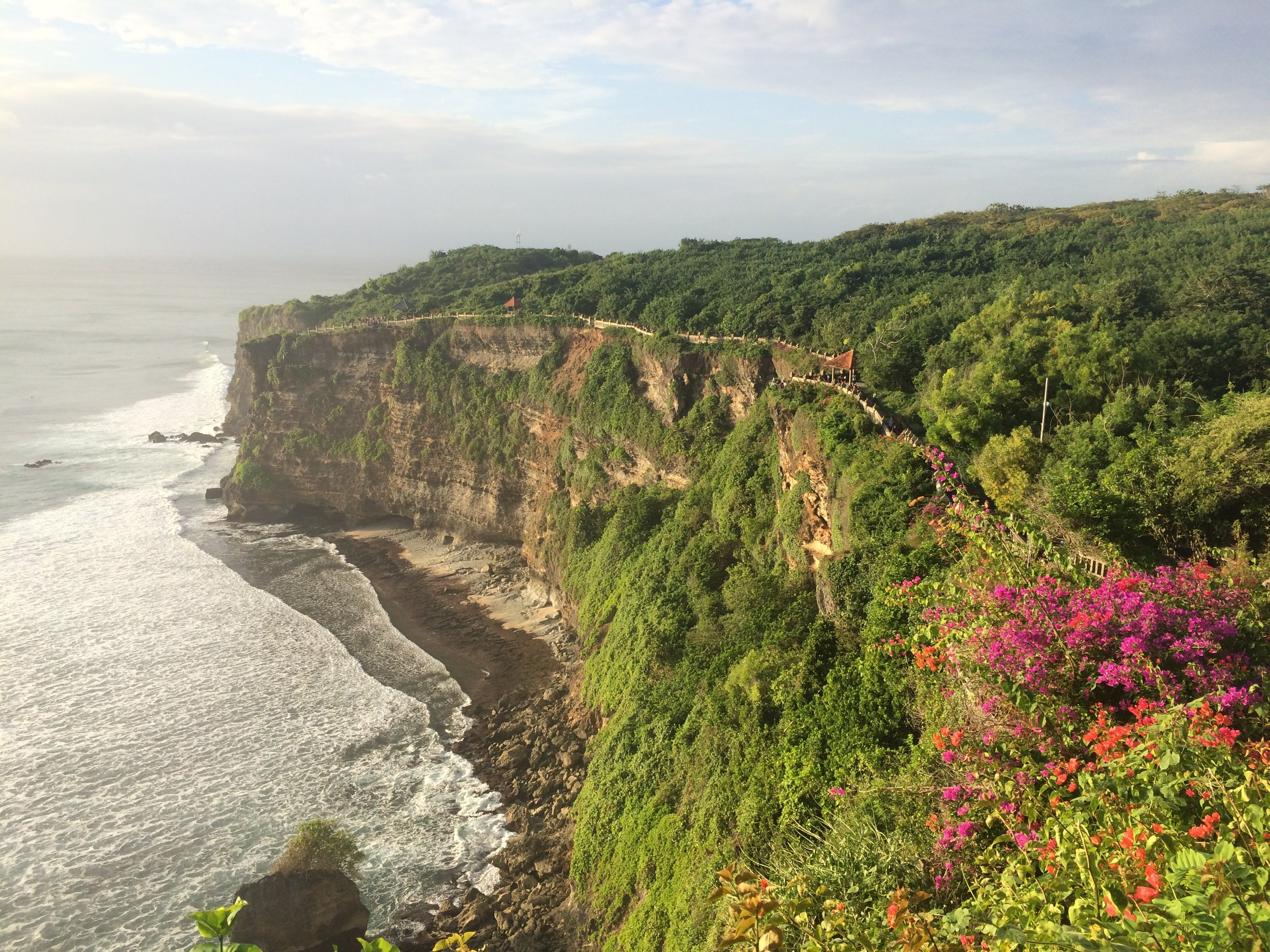 Incredible cliffside views at Uluwatu Temple.