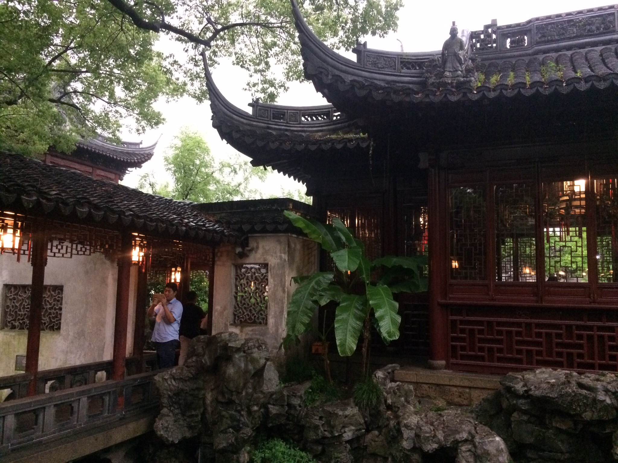 Inside the Yu Gardens.