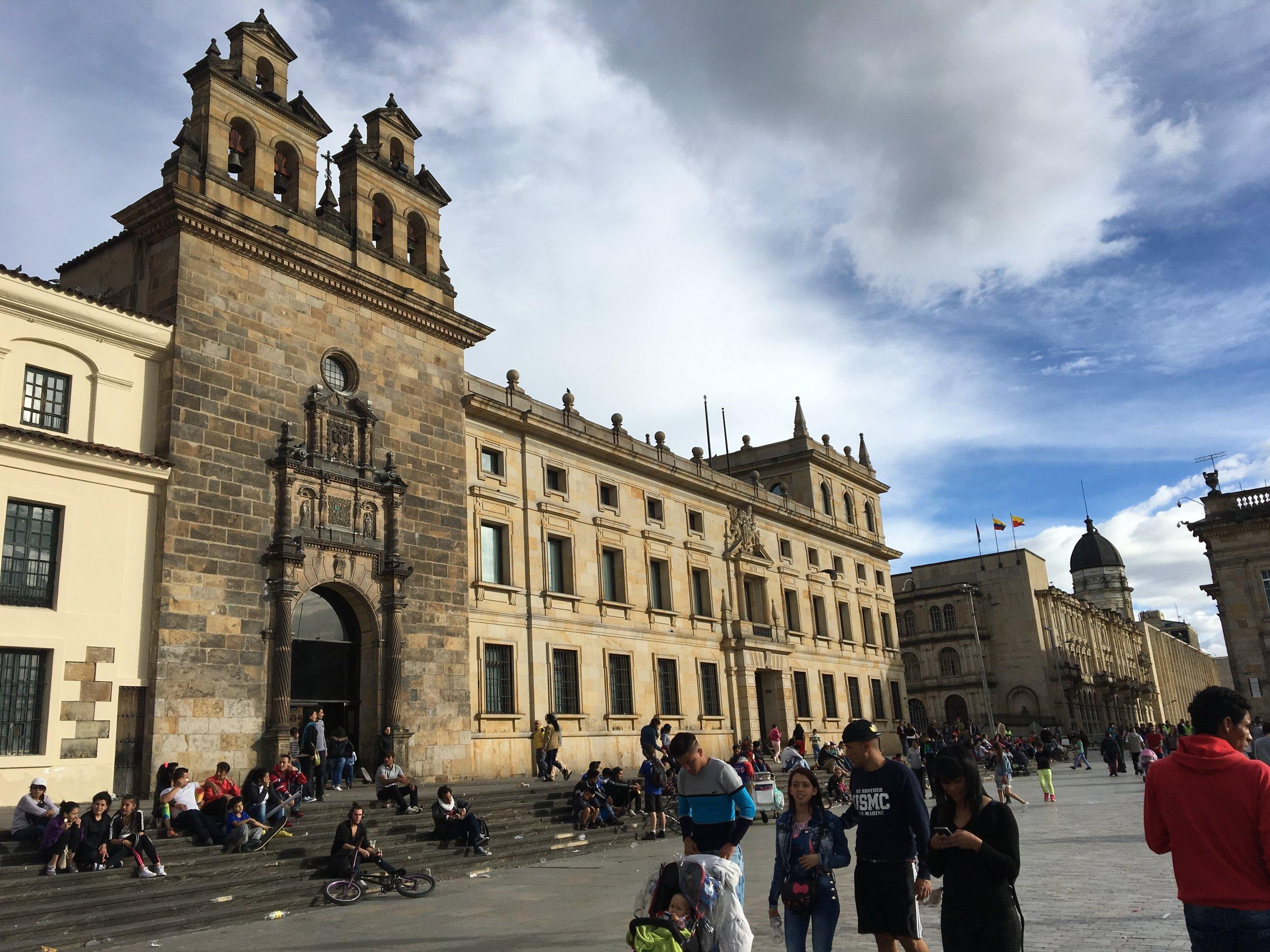 Bolivar Square in Bogota.