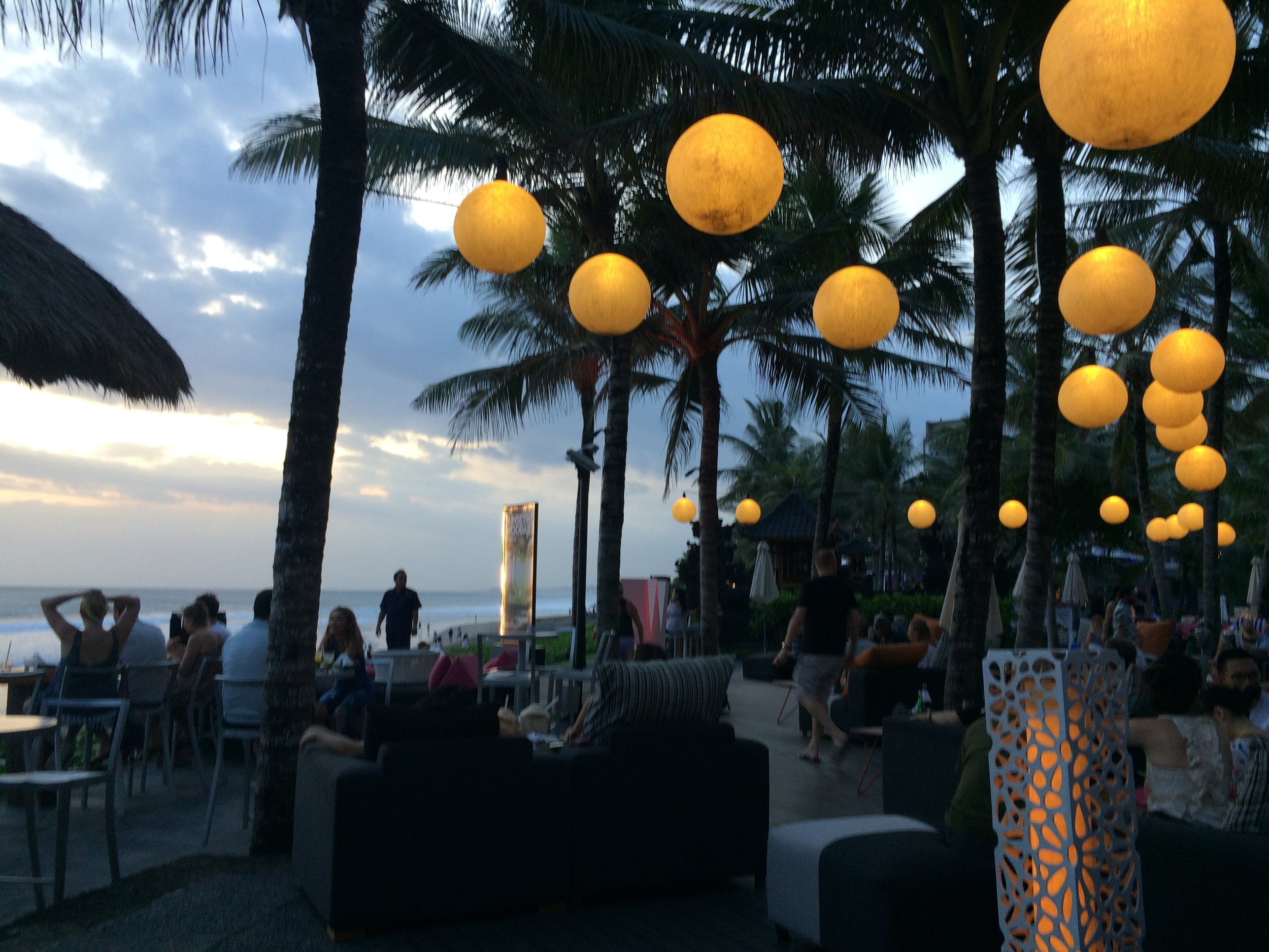Watching the sunset from the W Hotel in Seminyak is a must.