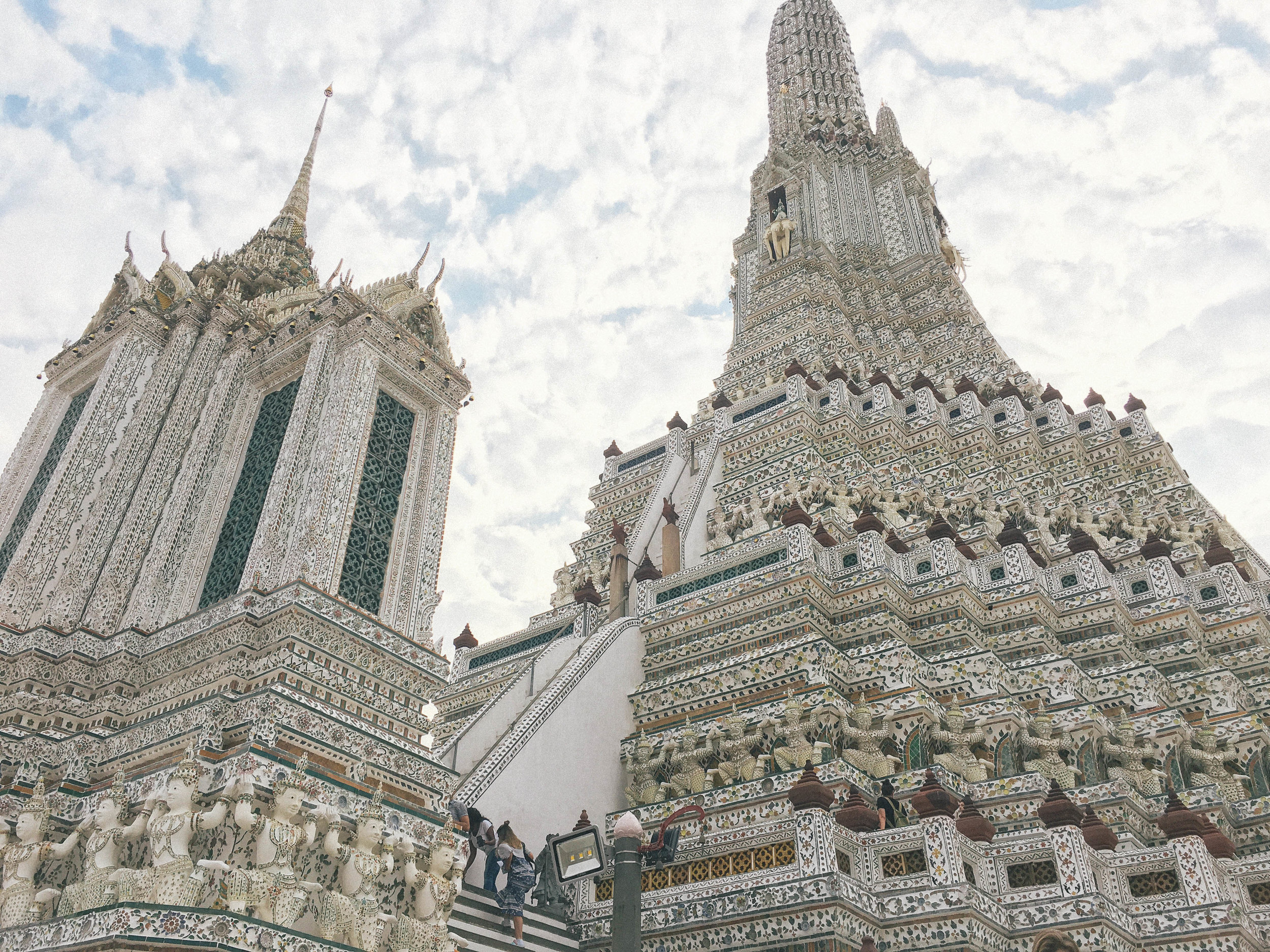 Wat Arun, a temple in Bangkok. The temples in Thailand are magnificent and insanely elaborate.