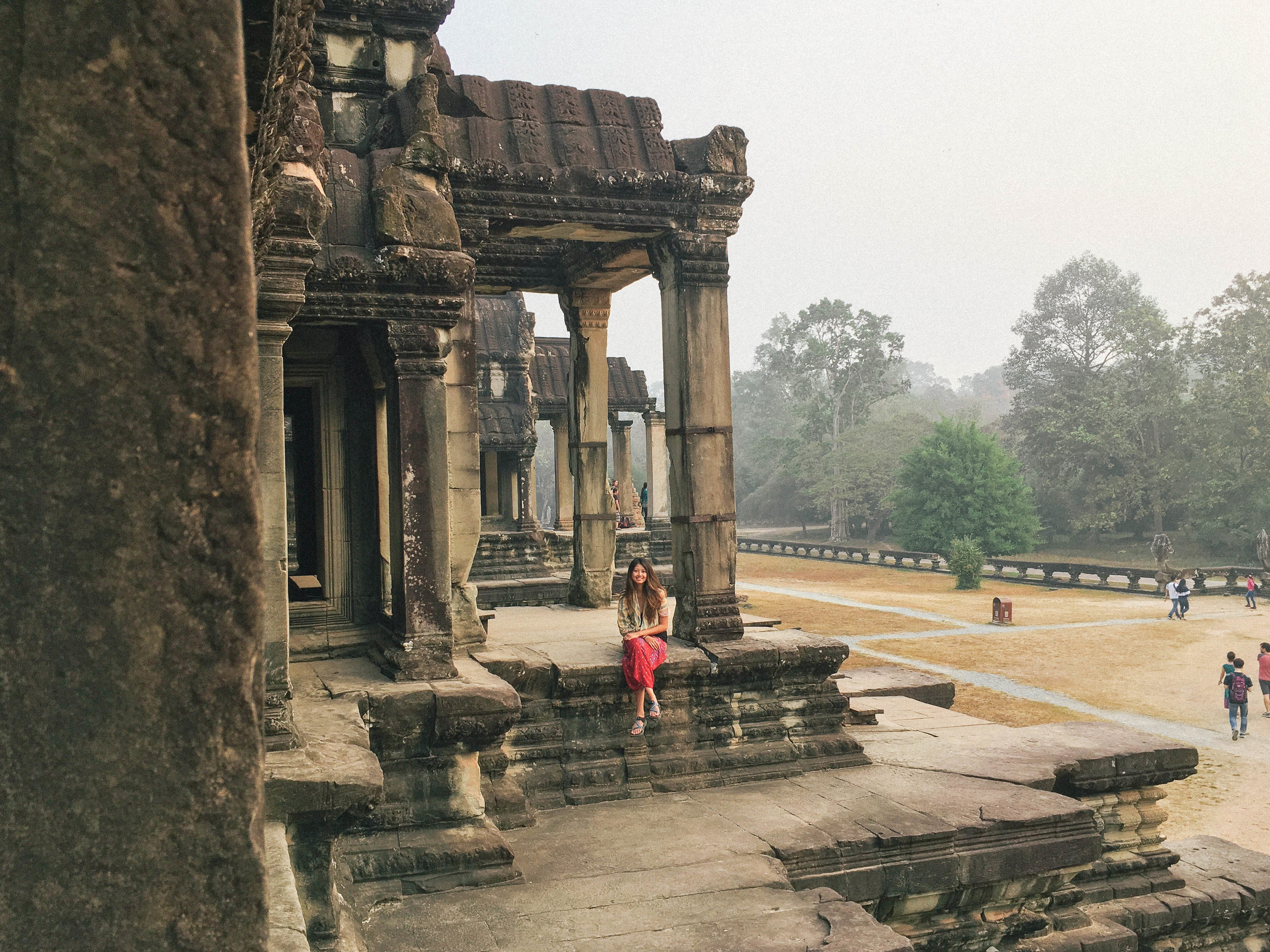 The very famous Angkor Wat in Cambodia.
