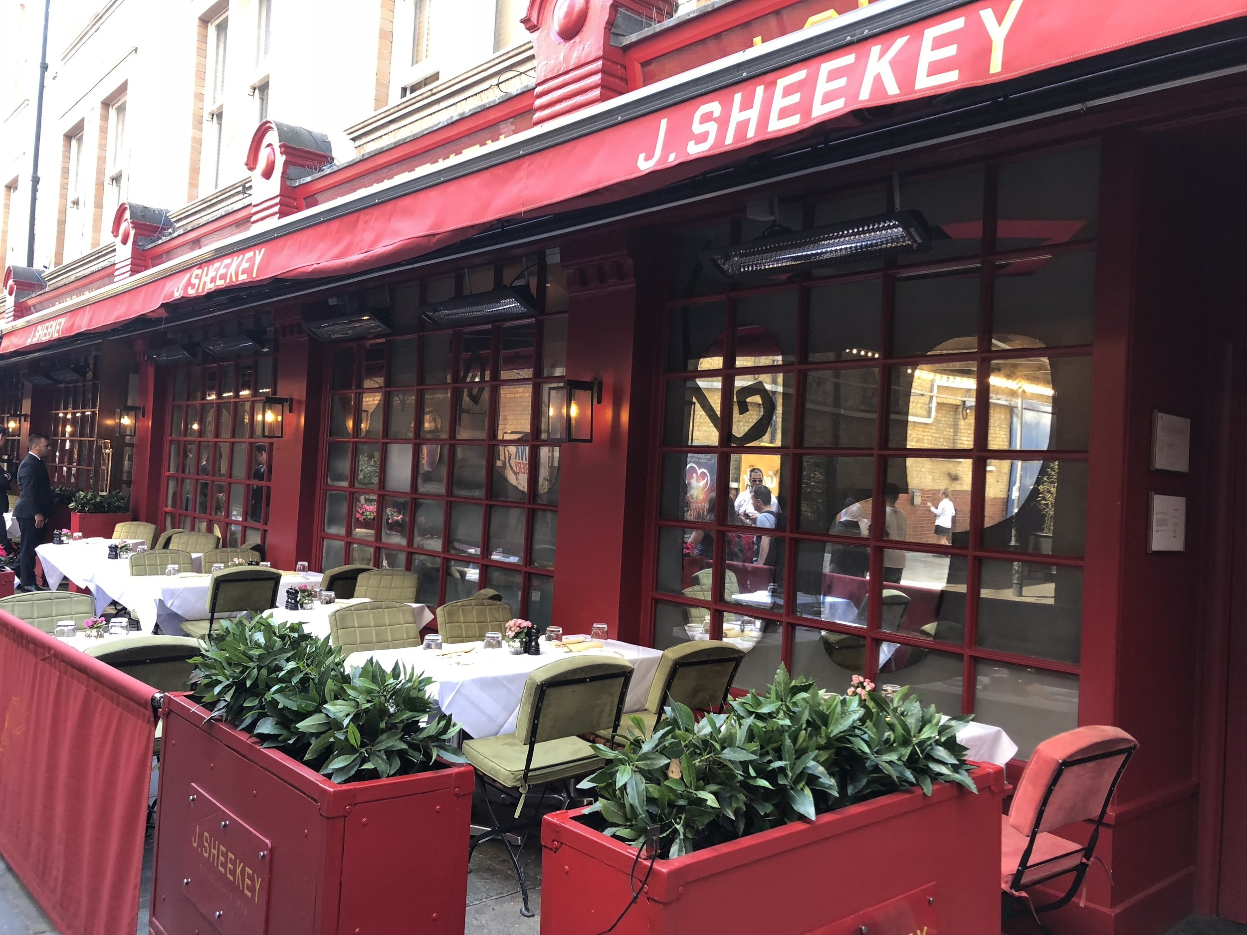 J Sheeky, the apparently esteemed London eatery (movie stars eat here).