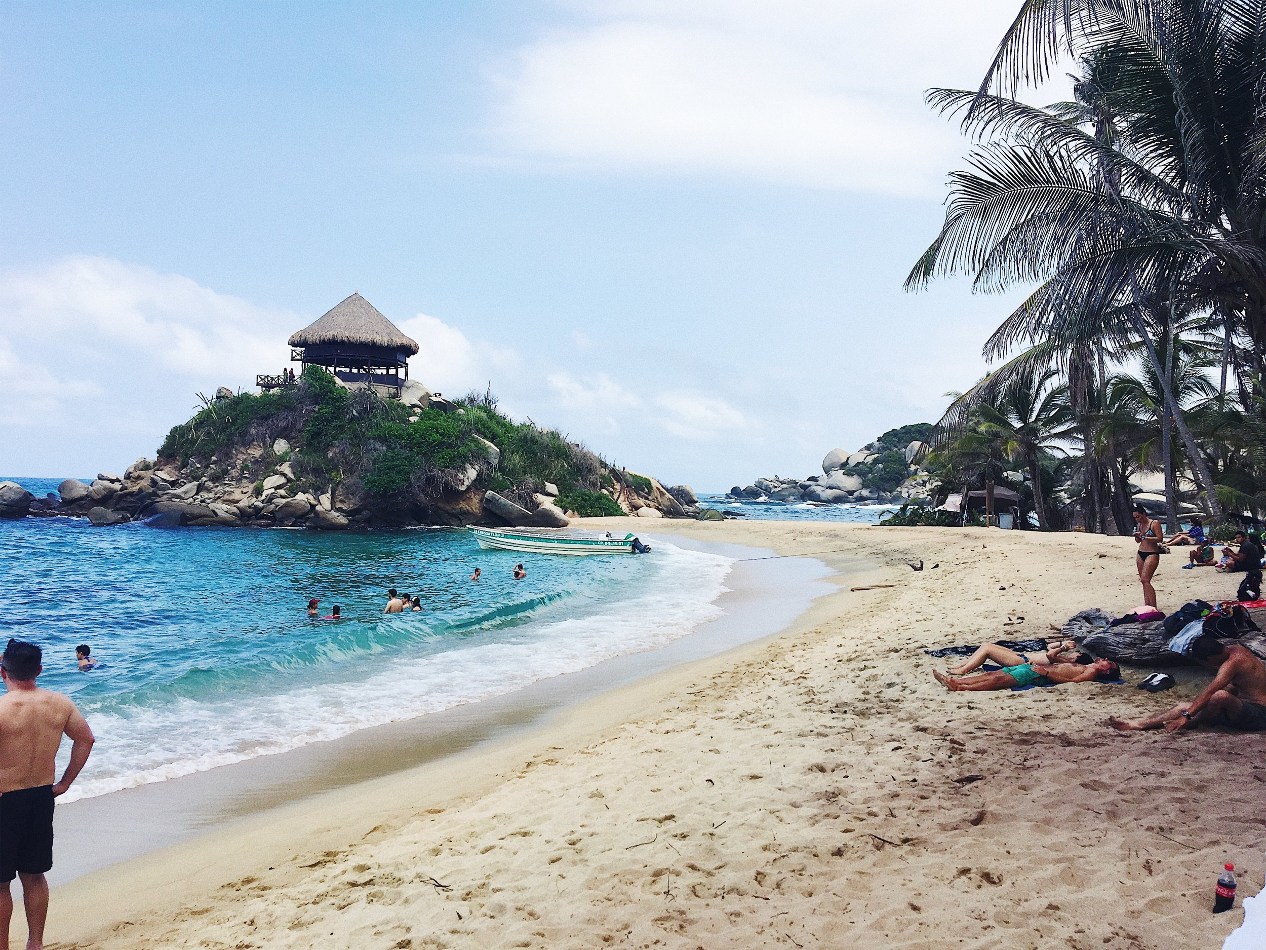The beach of El Cabo San Juan in Tayrona National Park, Colombia.