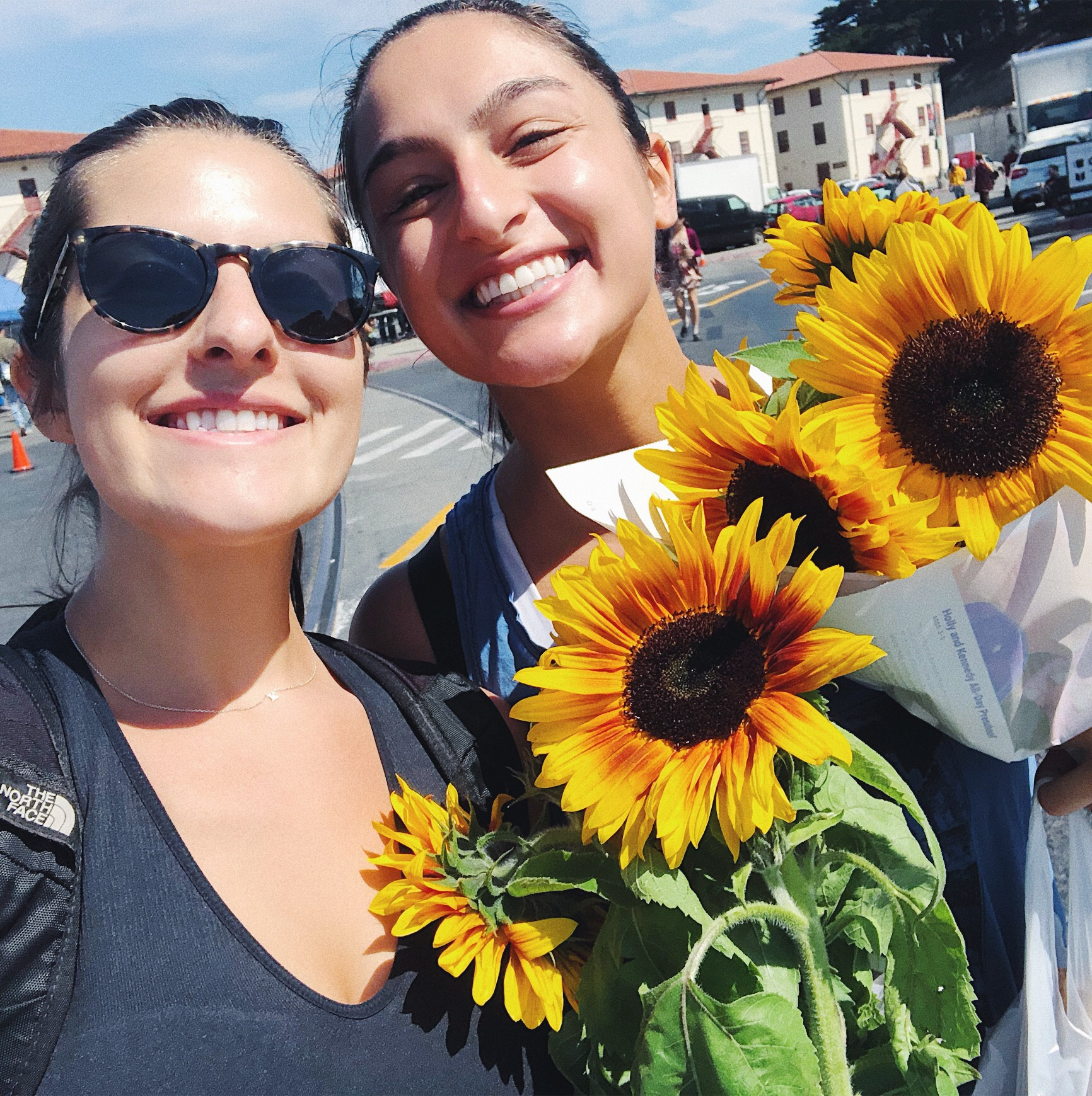 Me and my bestie picking up flowers from the farmers market.