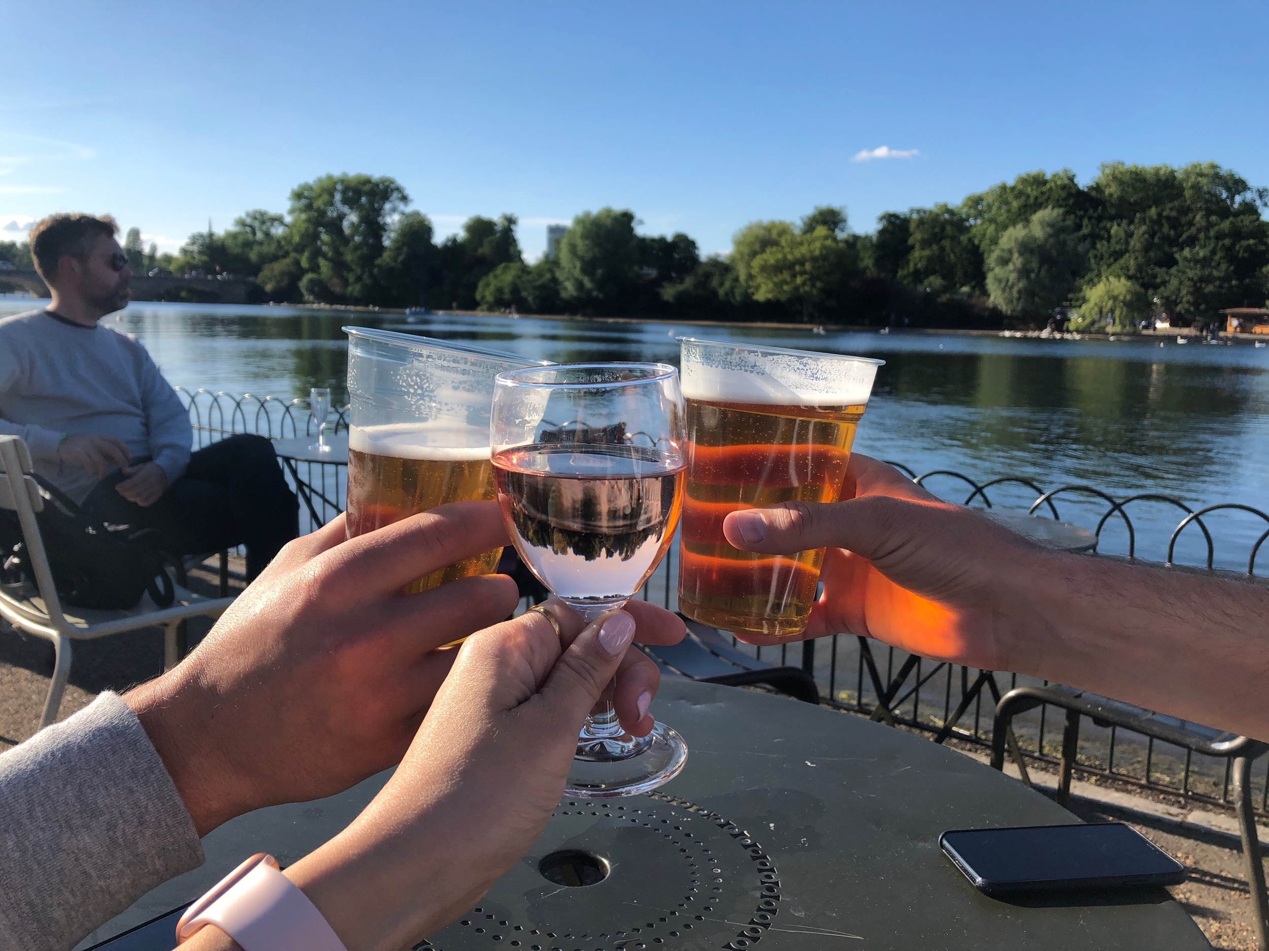 Toasting to a sunny day in London! Taken in Hyde Park on our way to the Kensington Palace.