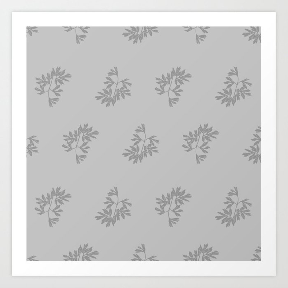 FUMARIA - GRAY #1 (pattern)  ***not available as art print*** (links to window curtain)