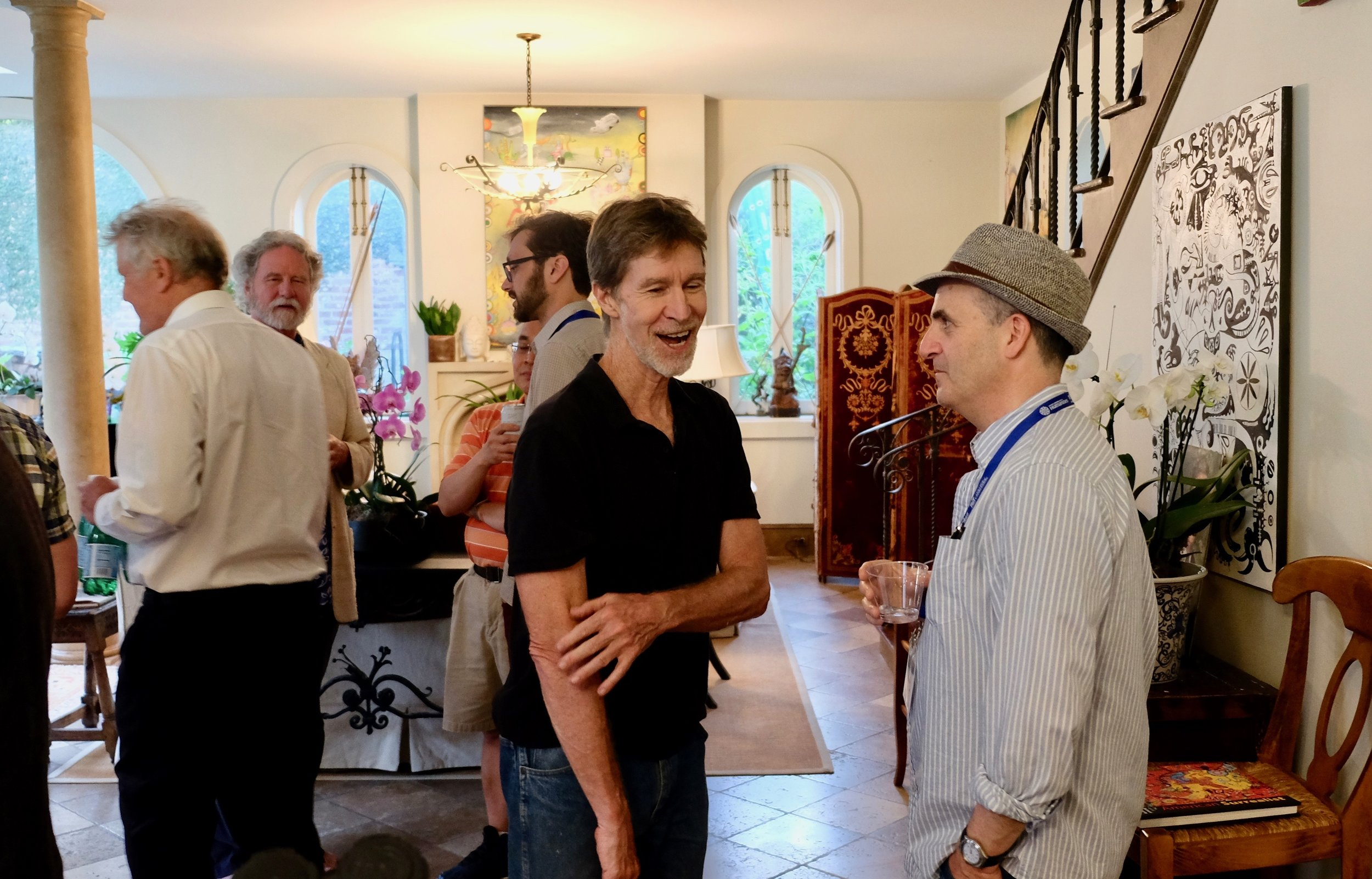 Gary Smith, Evan Thompson, Party at Barbara and Duke Hagerty