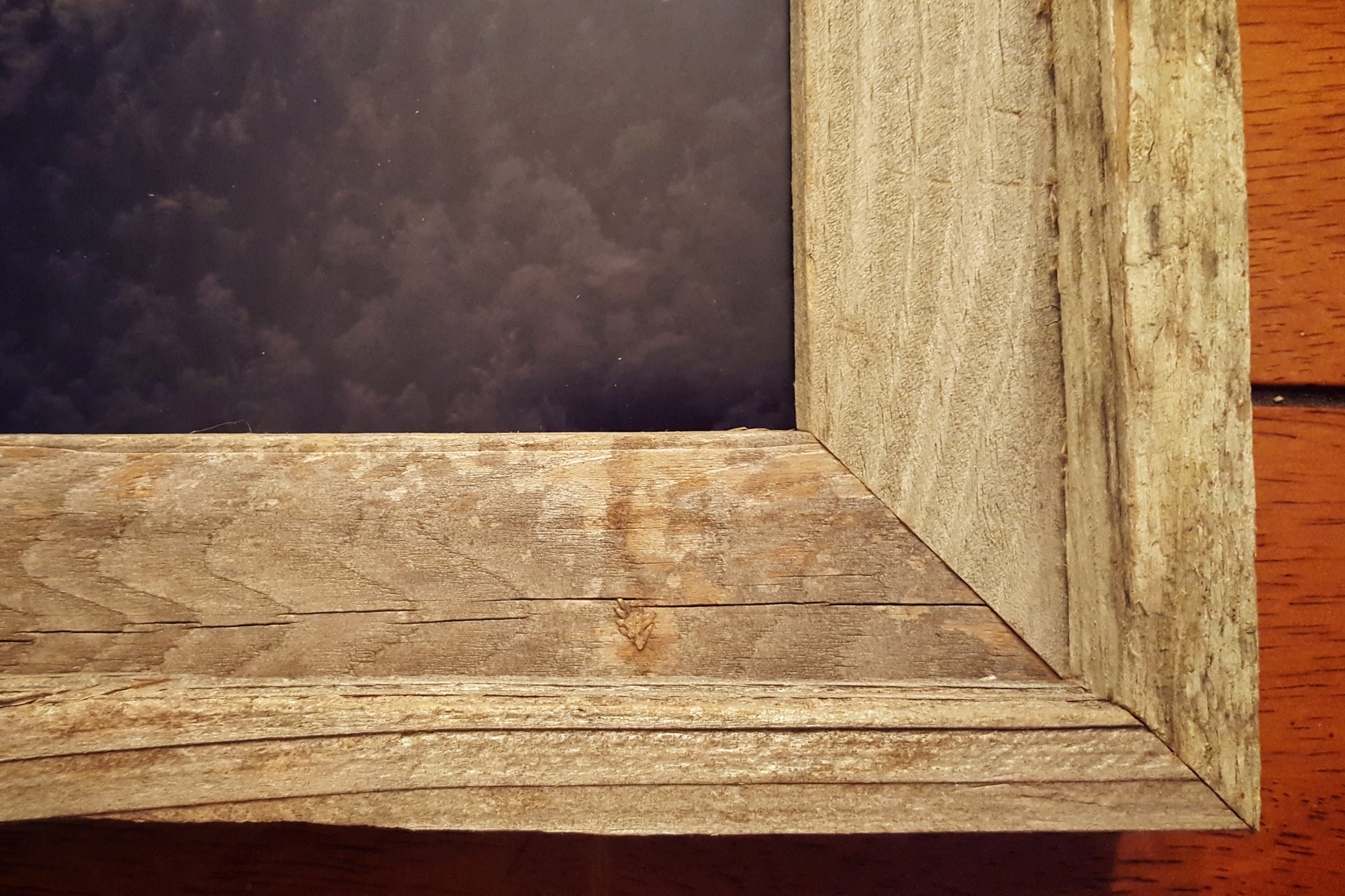 Close-up view of corner framing.