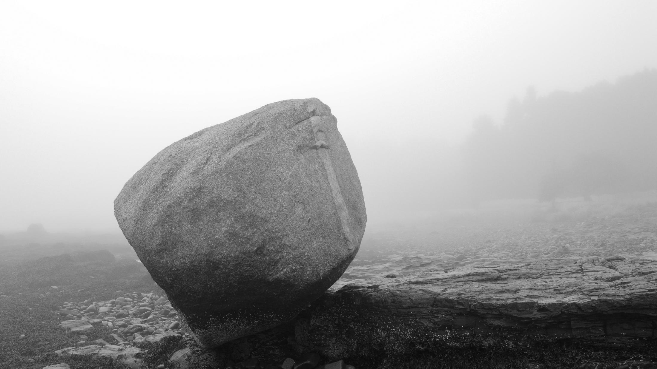 Balanced Rock. Acadia National Park. Nikon D3200 @ 35 mm f11 x 1/2s.