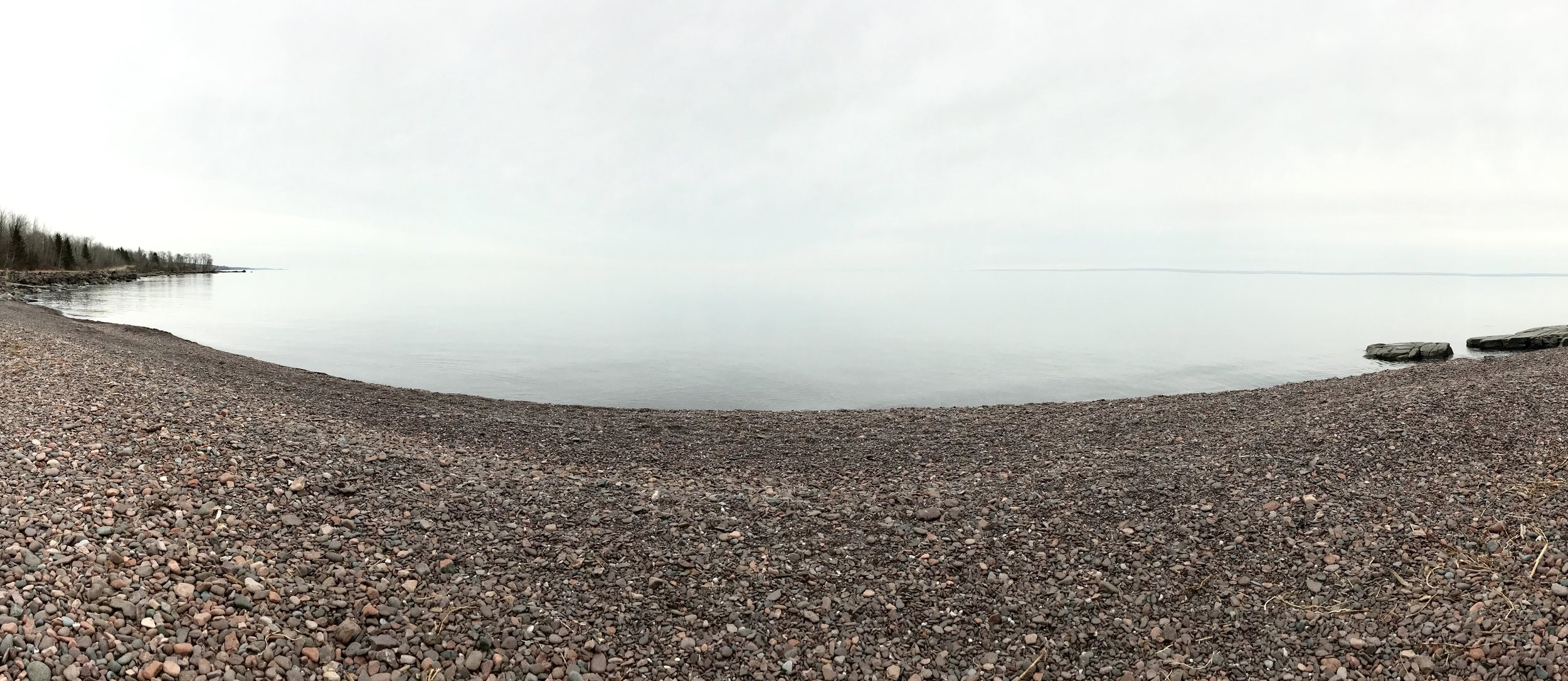 Where the water meets the sky on Lake Superior.