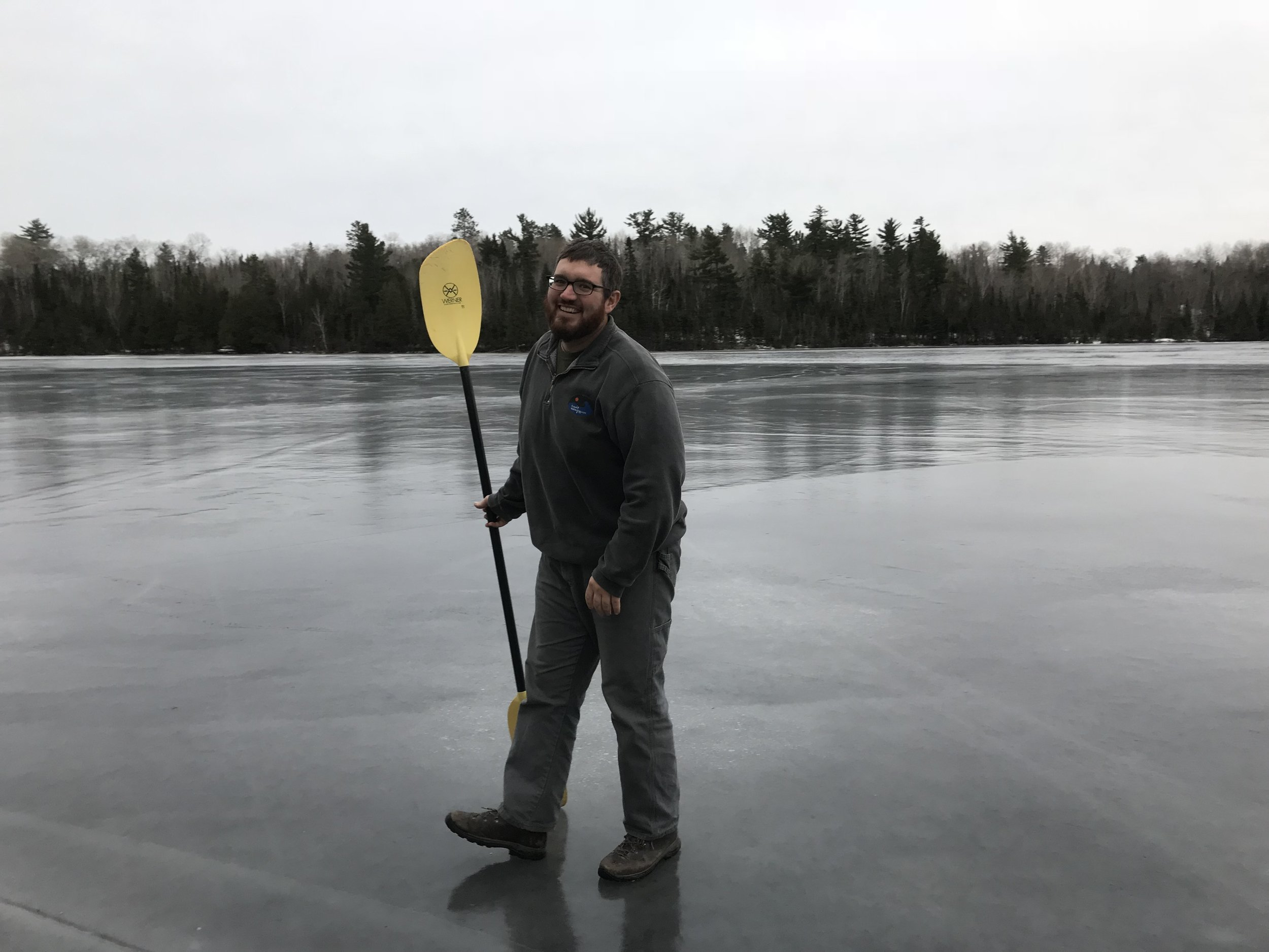Already past paddling season in the Boundary Waters.