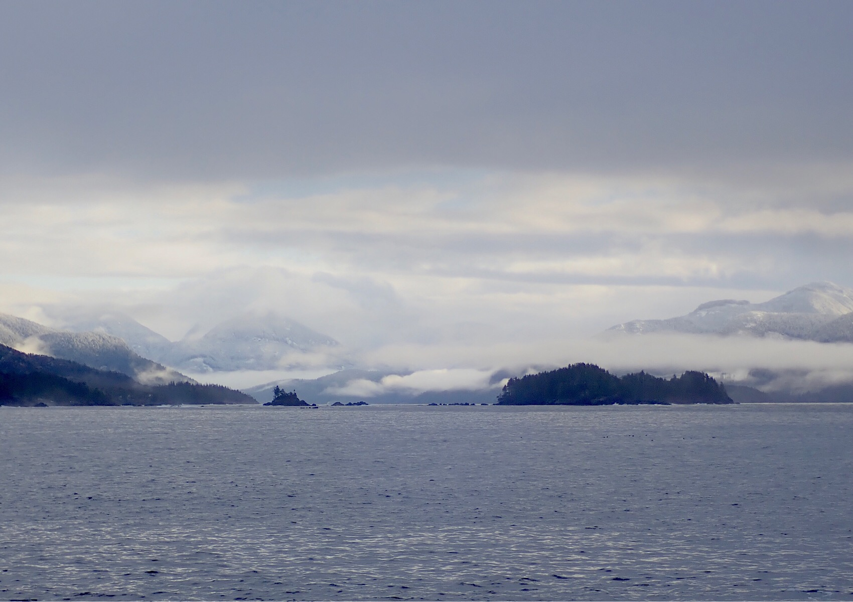 Looking back up the Esperanza Inlet from Catala Island.