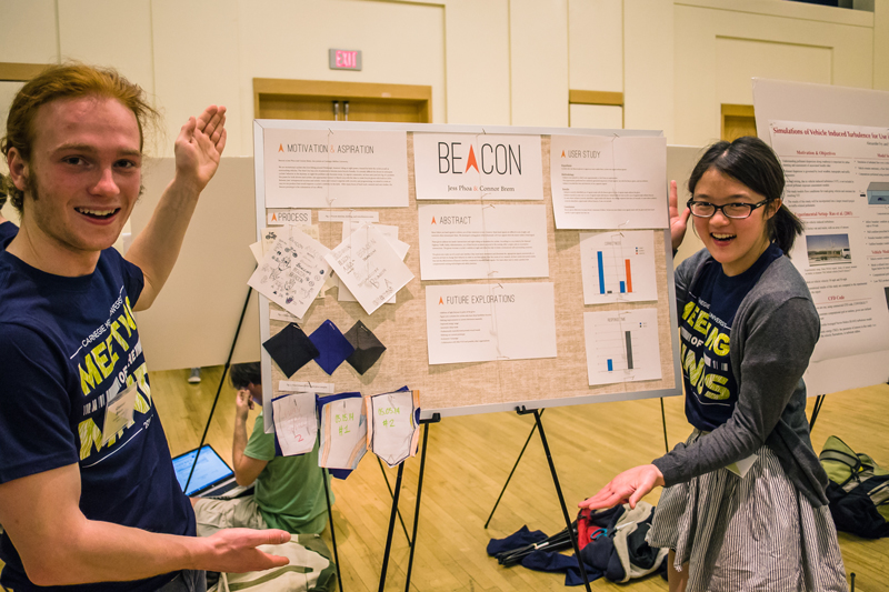 Connor and I with our poster at CMU's research symposium,  Meeting of the Minds