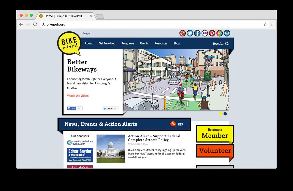 Bike Pittsburgh's original website