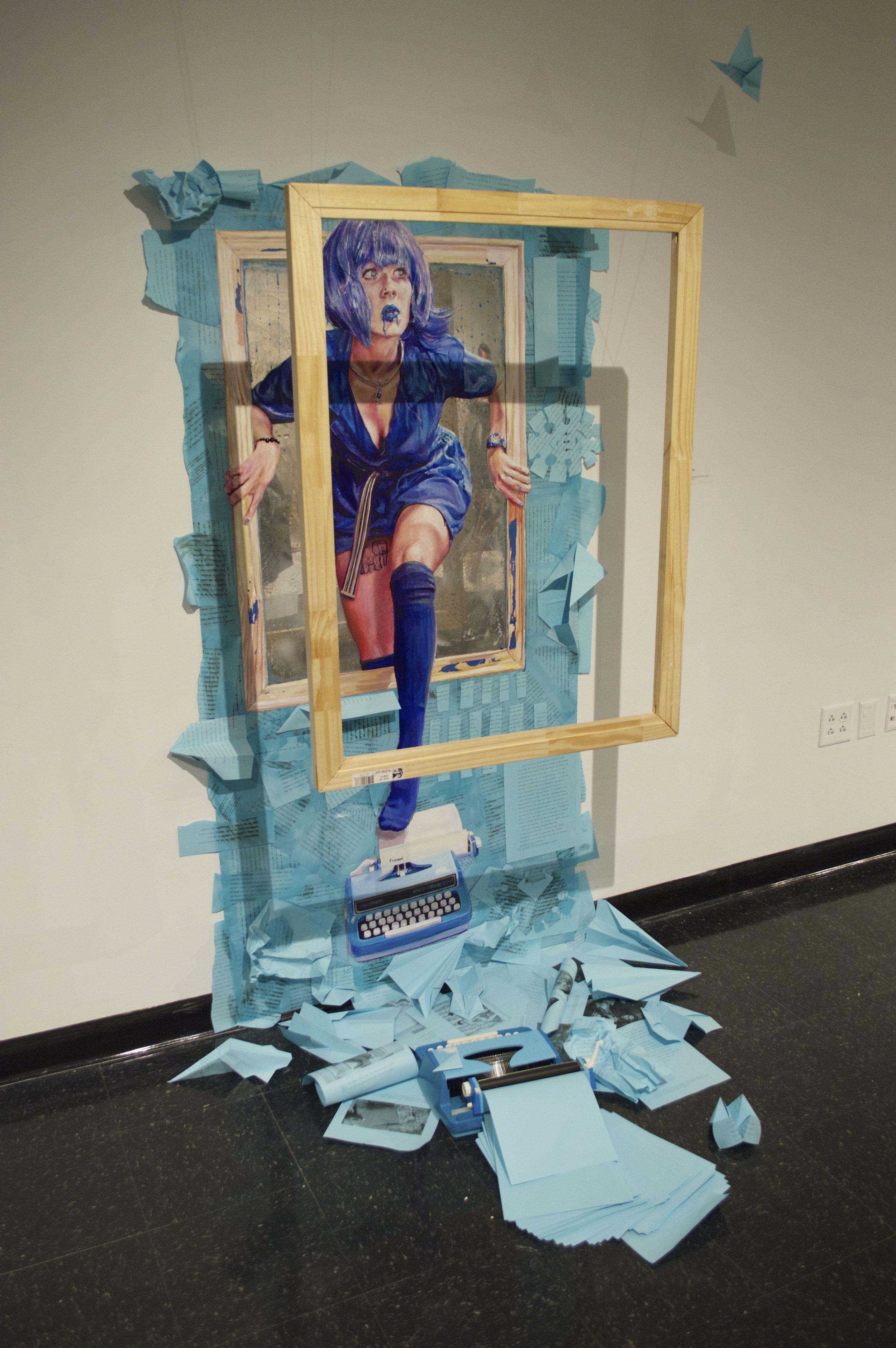 Framed Blue