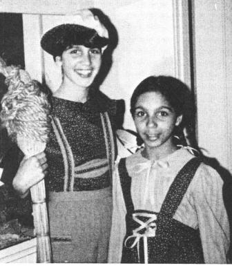 Kristin and fellow chorister Lara Downes in a production of Hansel & Gretel