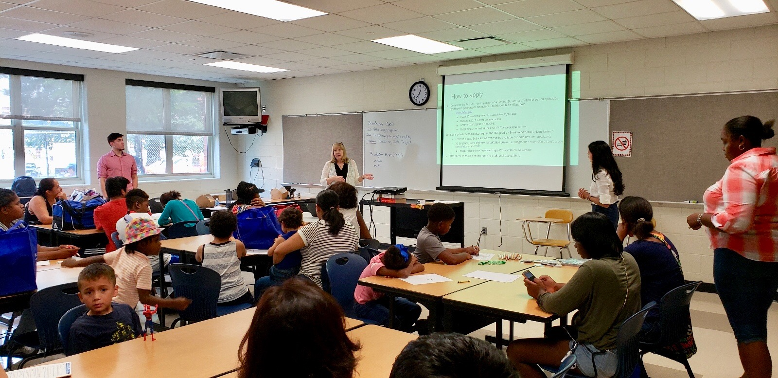 Our presentation was open to parents and children no matter what age — it's important to start the process early!