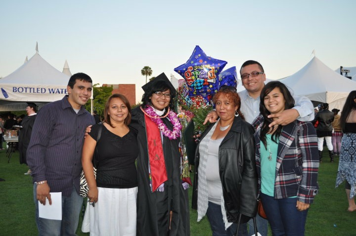 Cassandra with her siblings at her college graduation.
