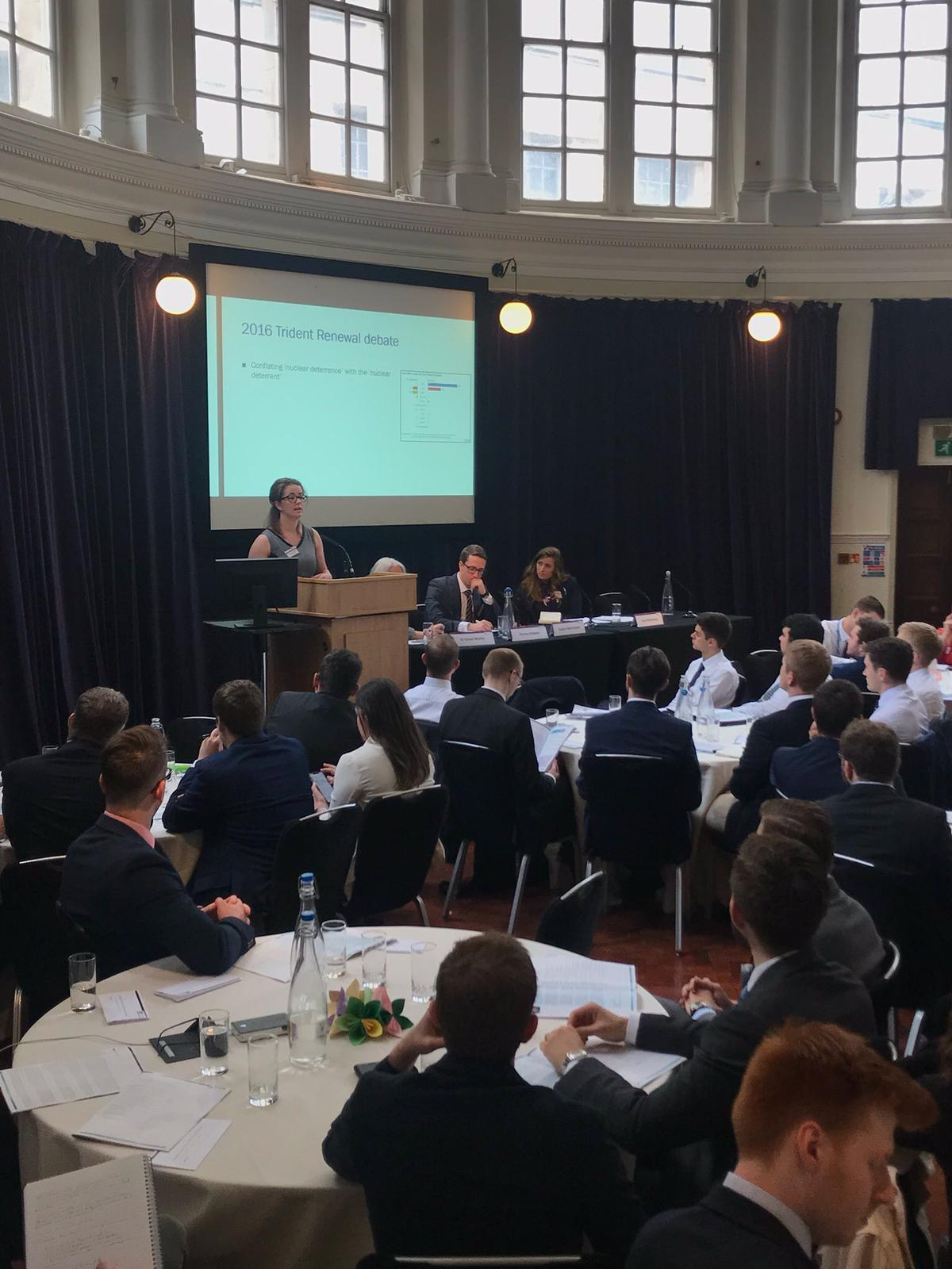 Sophie presents at a  Royal United Services Institute  {RUSI) conference this past spring.