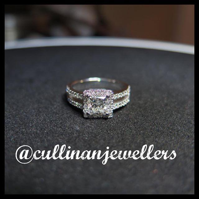 Princess cut diamond engagement ring shown here with 1 carat center diamond, finished and ready for delivery. Contact us for your very own quote #cullinanjewellers #applewoodplaza #jewelleryoftheday #jewelryoftheday #mississauaga #mississauga_igers #sauga #905 #tdot #toronto #torontofashion #torontolove #torontostyle #torontoartist #416 #customjeweller #goldsmith #jeweler #jeweller #diamondring #customring #diamonds #diamond #princesscut #engagementring #engagement #shesaidyes #diamondlife #womensfashion #bridal