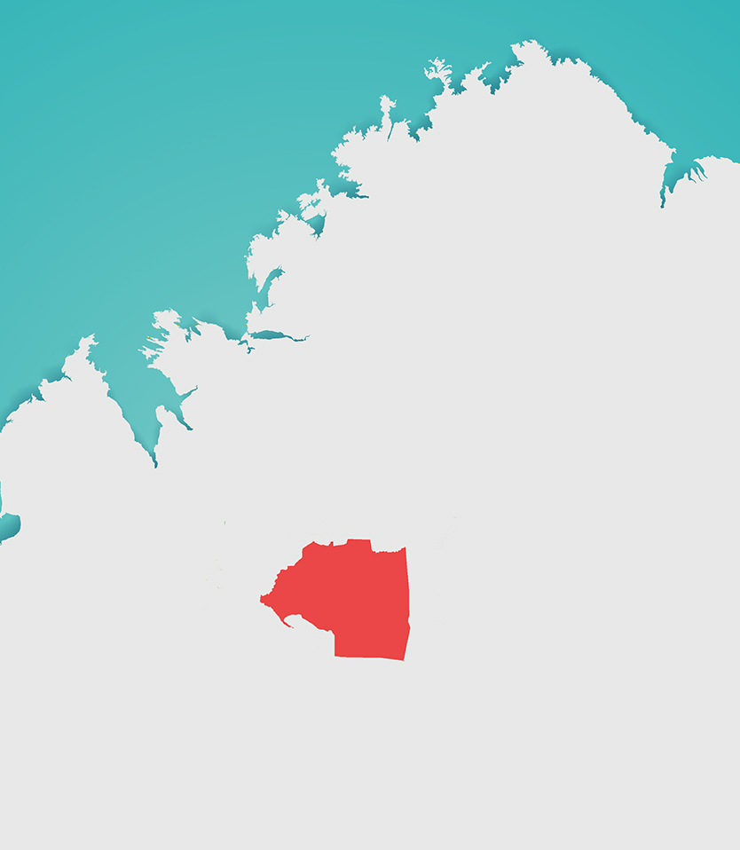 Gooniyandi Ranger Map
