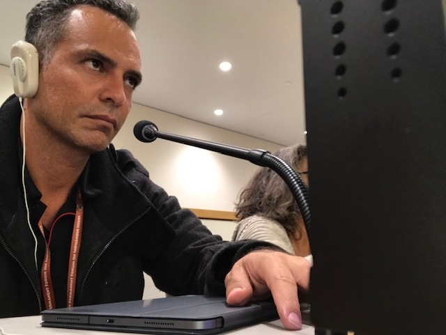 Tyronne Garstone pictured at the United Nations Permanent Forum on Indigenous Issues.