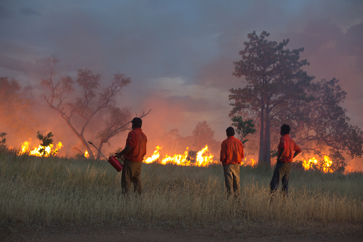 Kija Rangers undertake burning in Northern Australia.