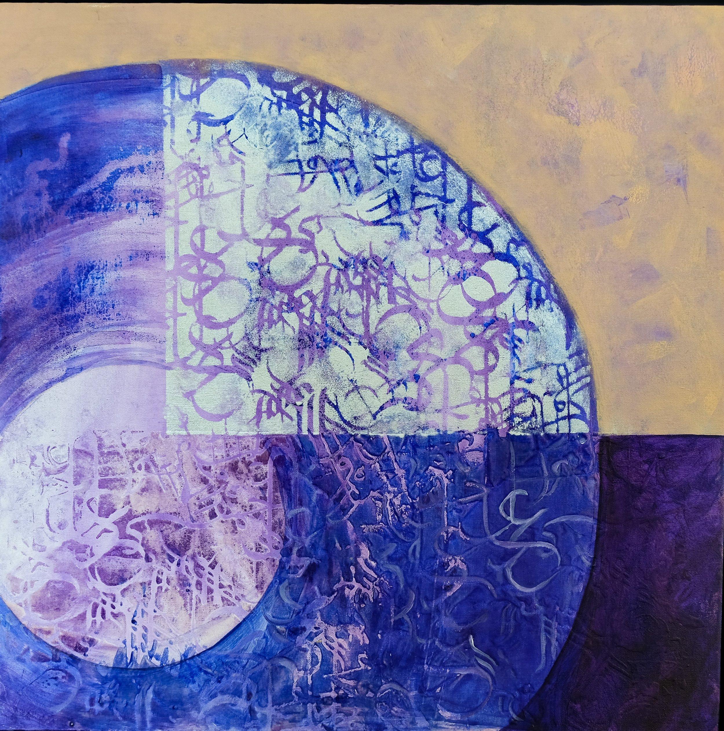 Size: 60 x 60  Medium: Acrylic on Canvas  Price:  SOLD