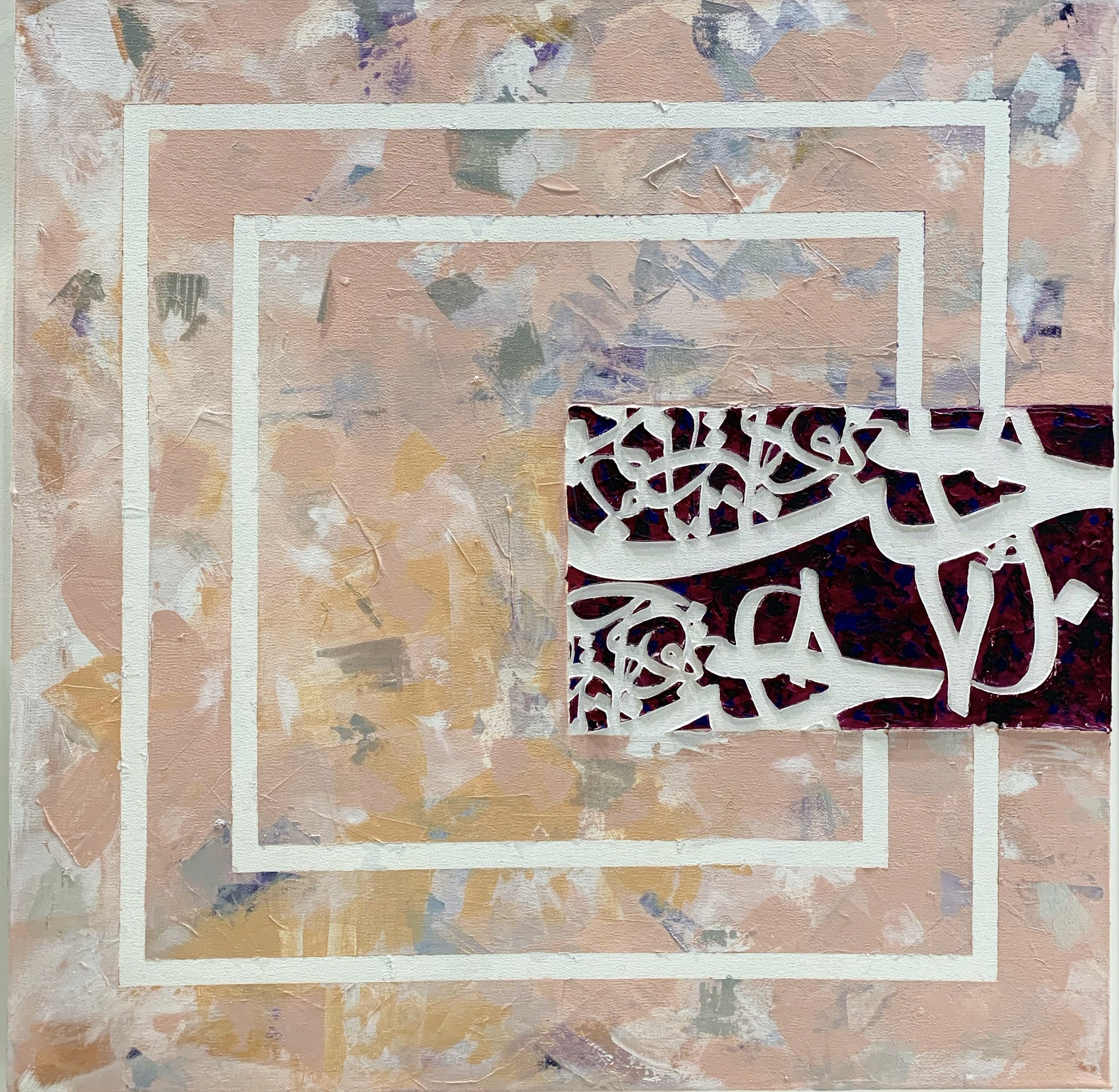 Size: 80*80  Medium: Acrylic on Canvas  Price: 1200
