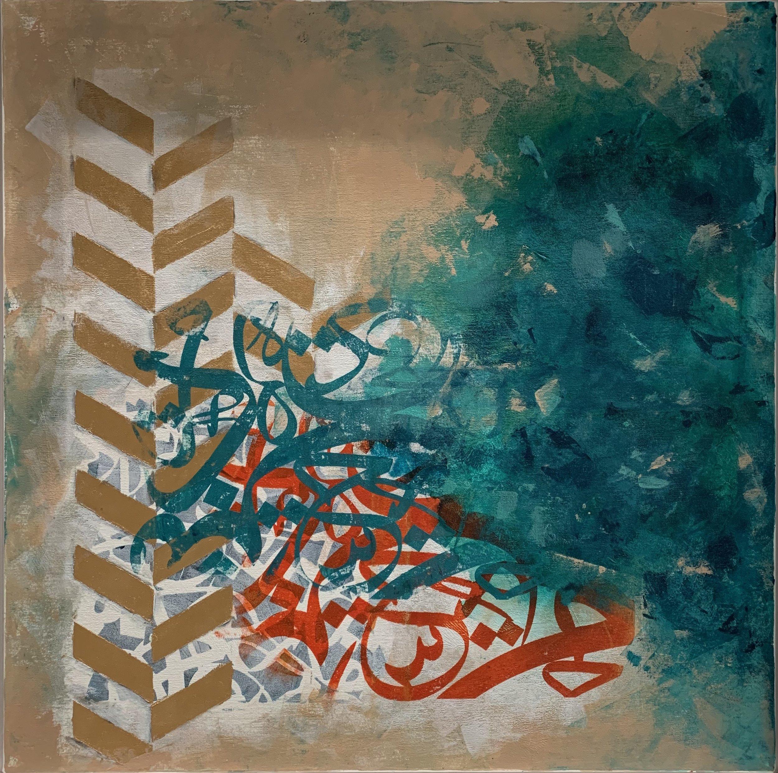 Size: 80*80  medium: Acrylic on Canvas  proce:1800