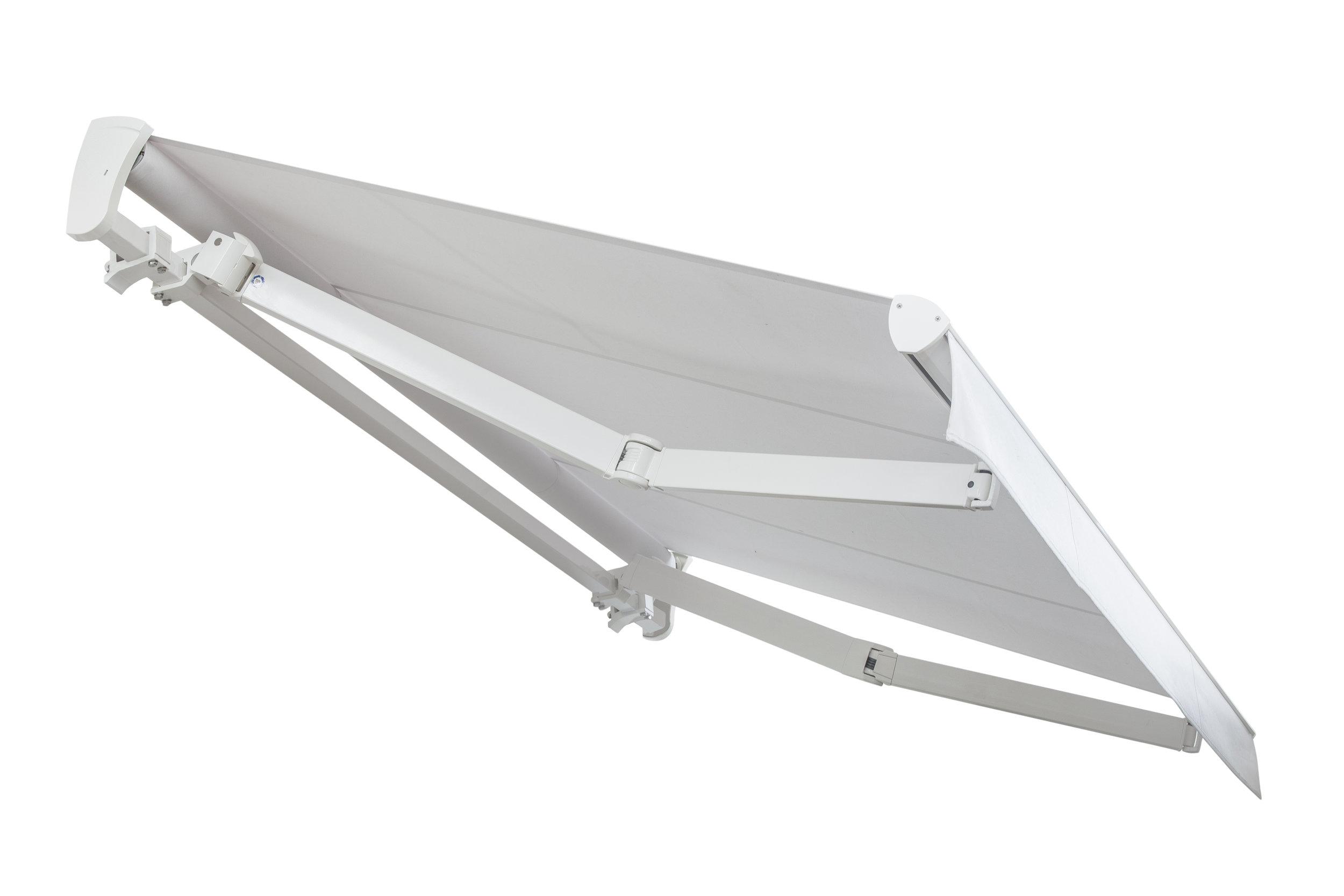 TOP LINE plus - - Concepito per la copertura di grandi spazi- Profilo rinforzato e bracci certificati TÜV- Dimensioni max (L) cm 1200 x (Sp) cm 400
