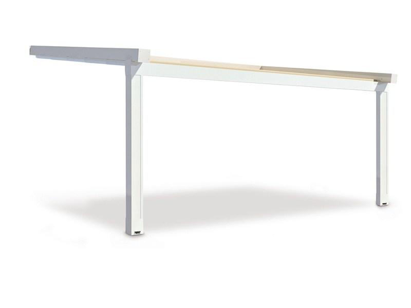 A3 - Struttura in alluminio per le grandi coperture dal design classico.Dim. max: larghezza 1300 in sporgenza 800
