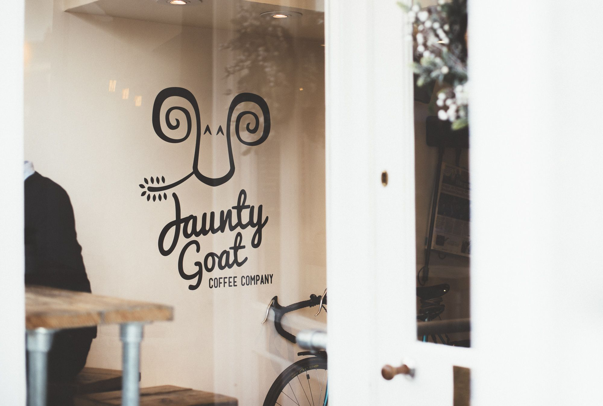 Photo of entrance to Jaunty Goat Coffee Shop