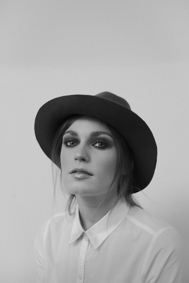 Portrait of Melissa Model with wide brim hat