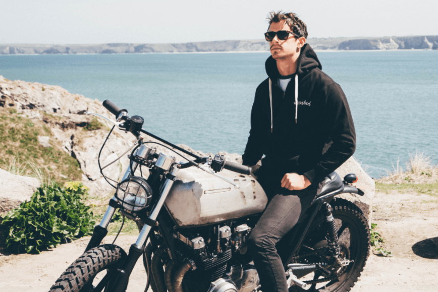 Jonny Noakes on Custom Motorcycle Cornwall