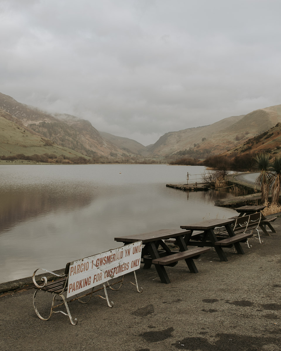 `You can only enjoy this massive lake if you buy a drink'