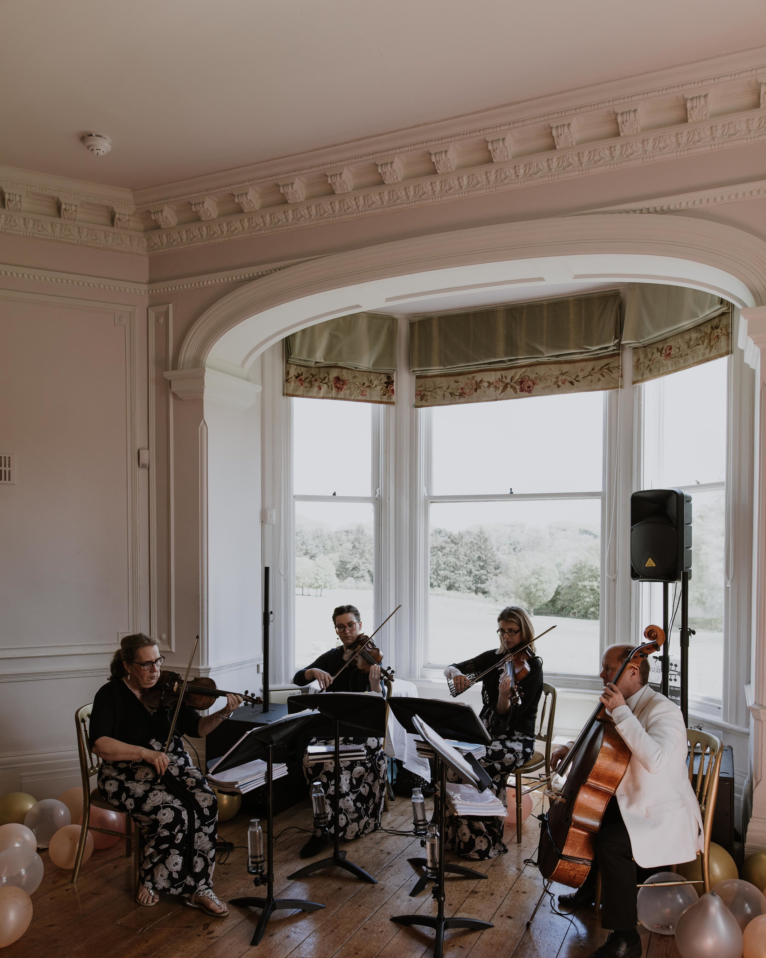 String quartet at Scorrier House Wedding