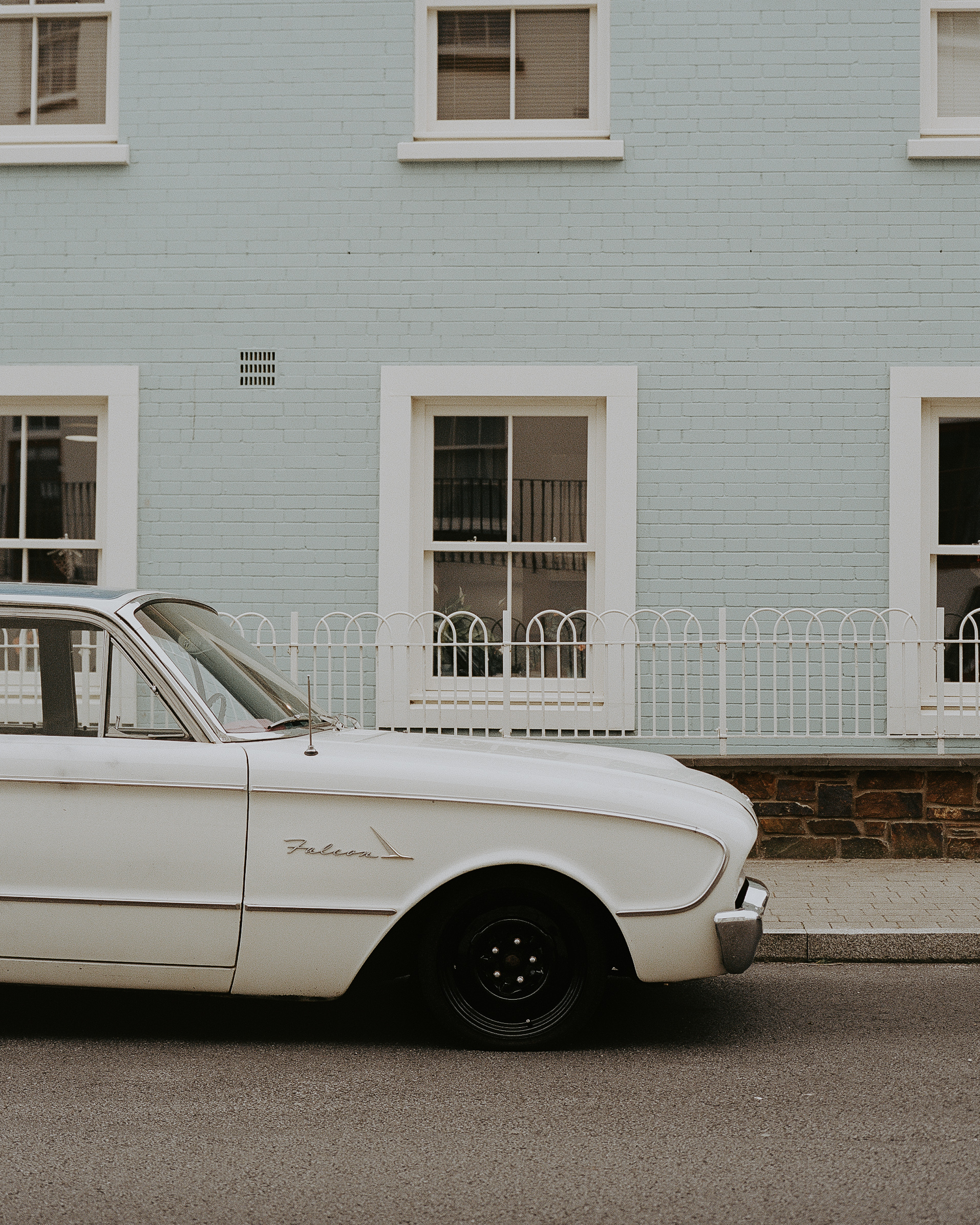 Talk about dream cars.. - The Ford Falcon chilling in a street in Cornwall.