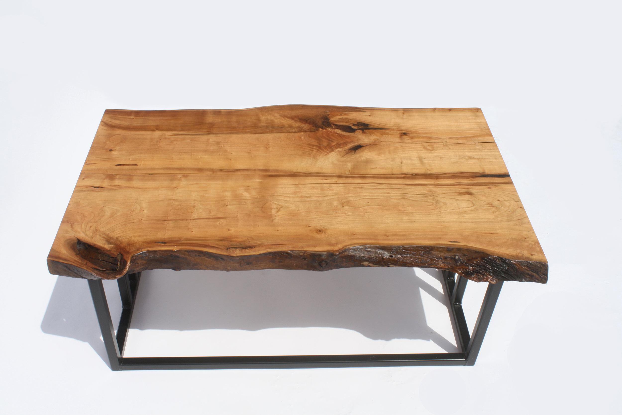 Cherry Slab w: metal base coffee table .jpg