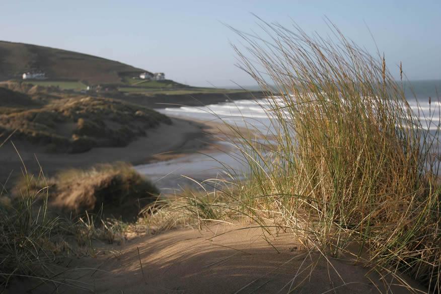 Croyde beach and sand dunes