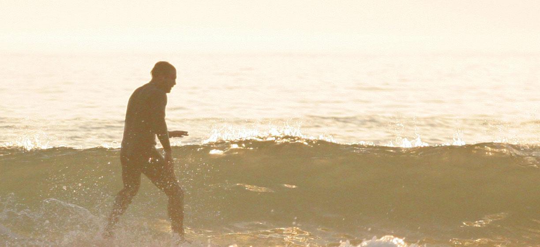 Golden glass - summer surfing at Croyde