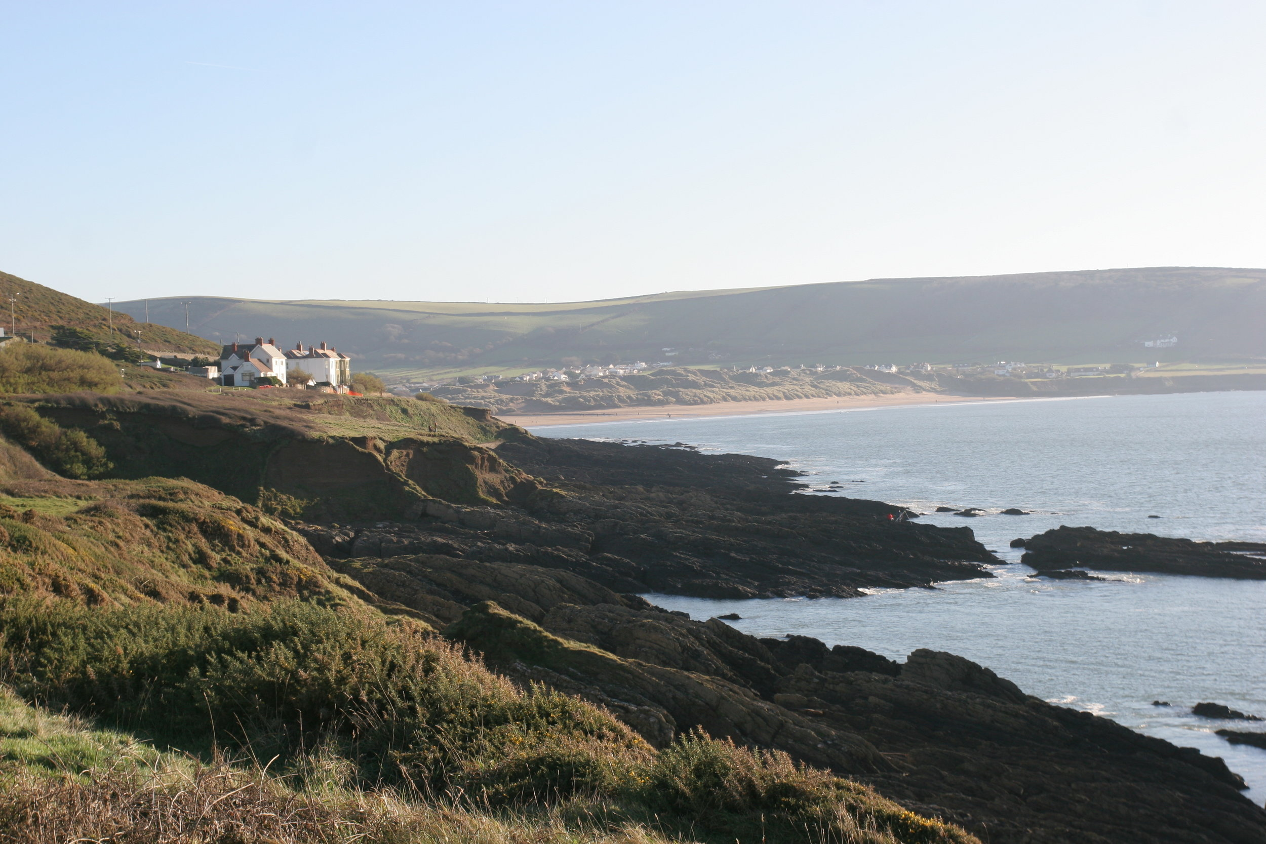 Looking back at Croyde beach from the lovely Baggy Point coastal walk
