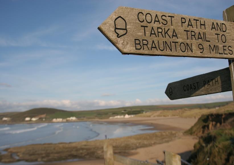 Many lovely coastal and rural walks right from the doorstep
